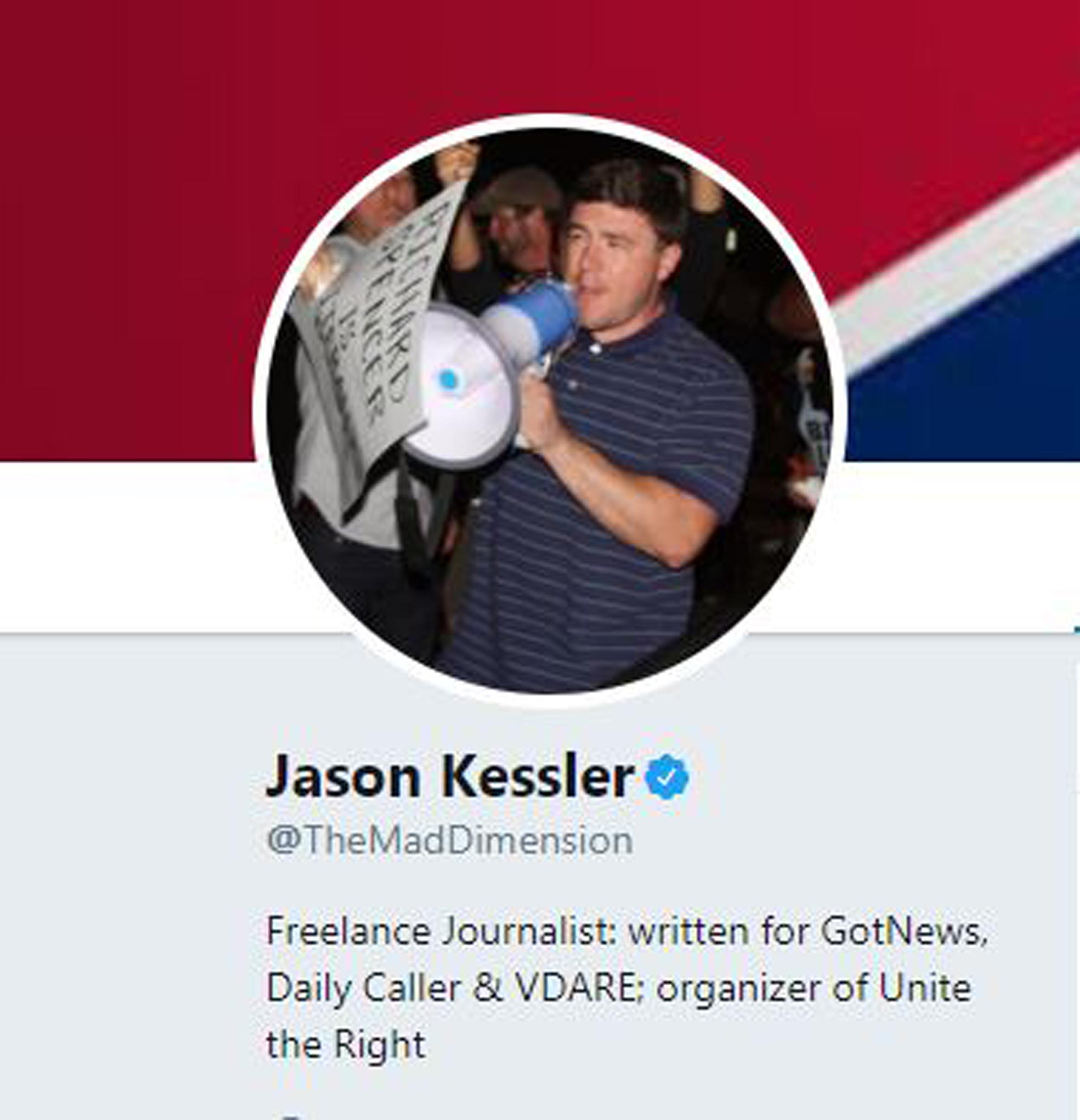 Image: Jason Kessler's Twitter profile