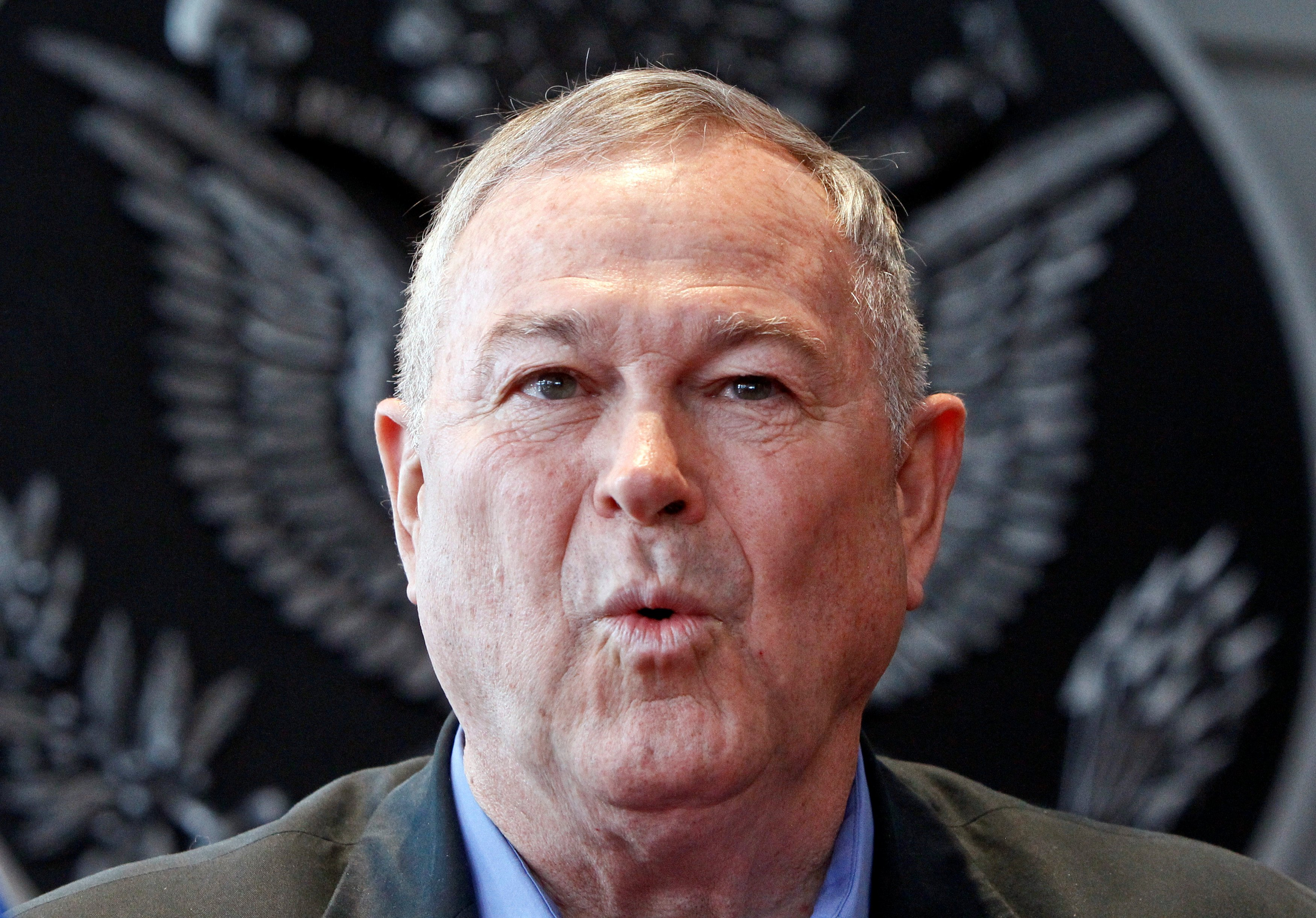 Image: Republican U.S. Representative Dana Rohrabacher speaks at a news conference in Moscow, Russia on June 2, 2013.