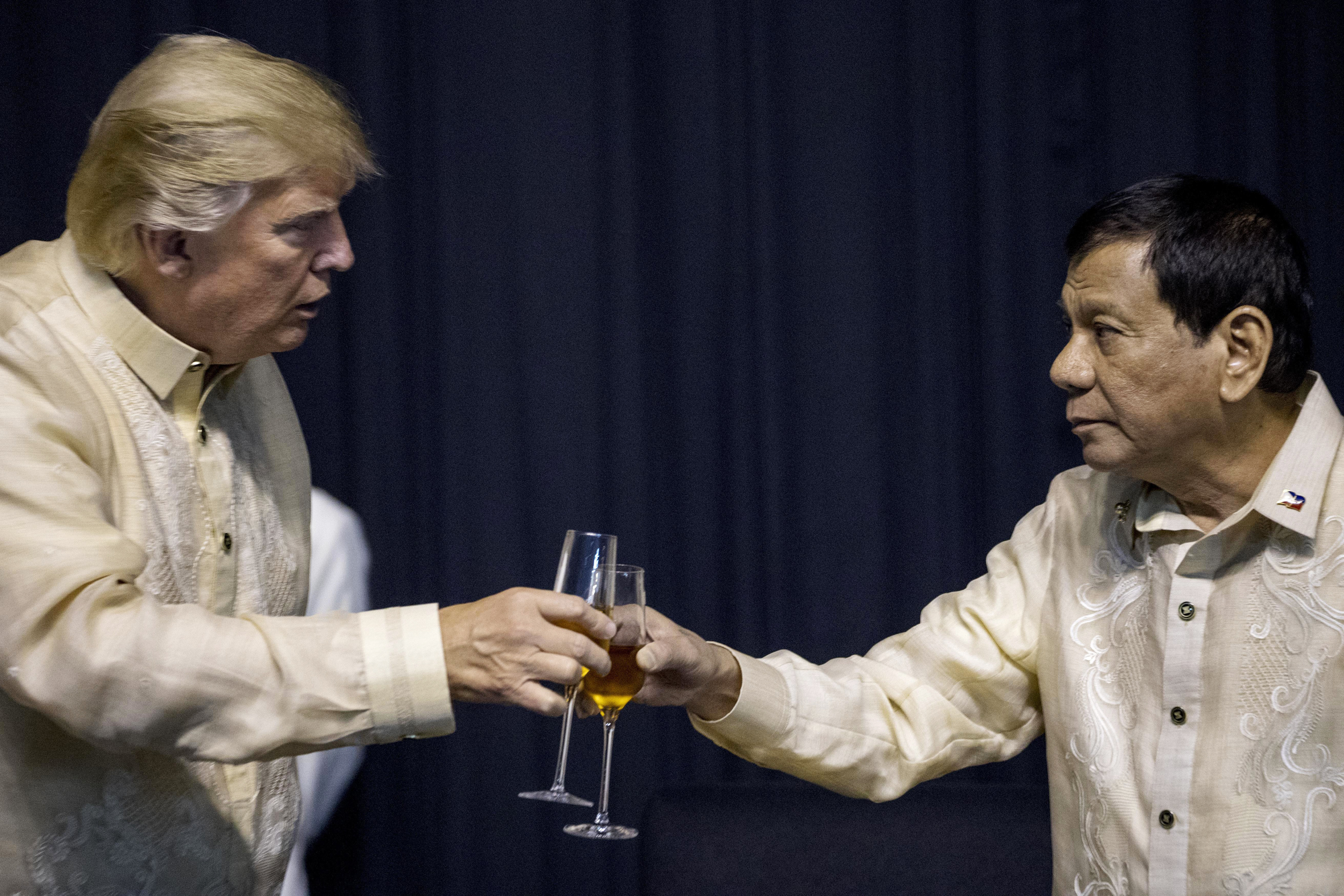 Image result for trump with duterte