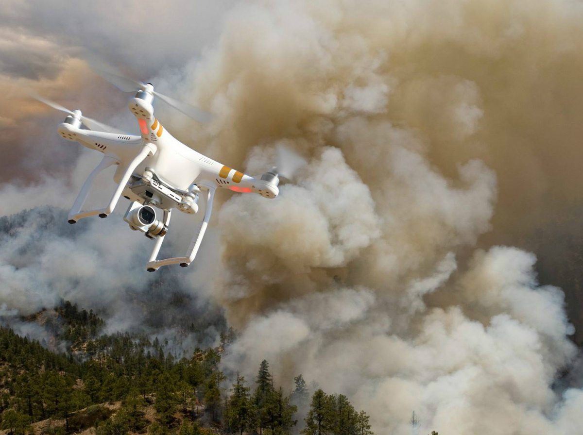 Managing Wildfires with Drones