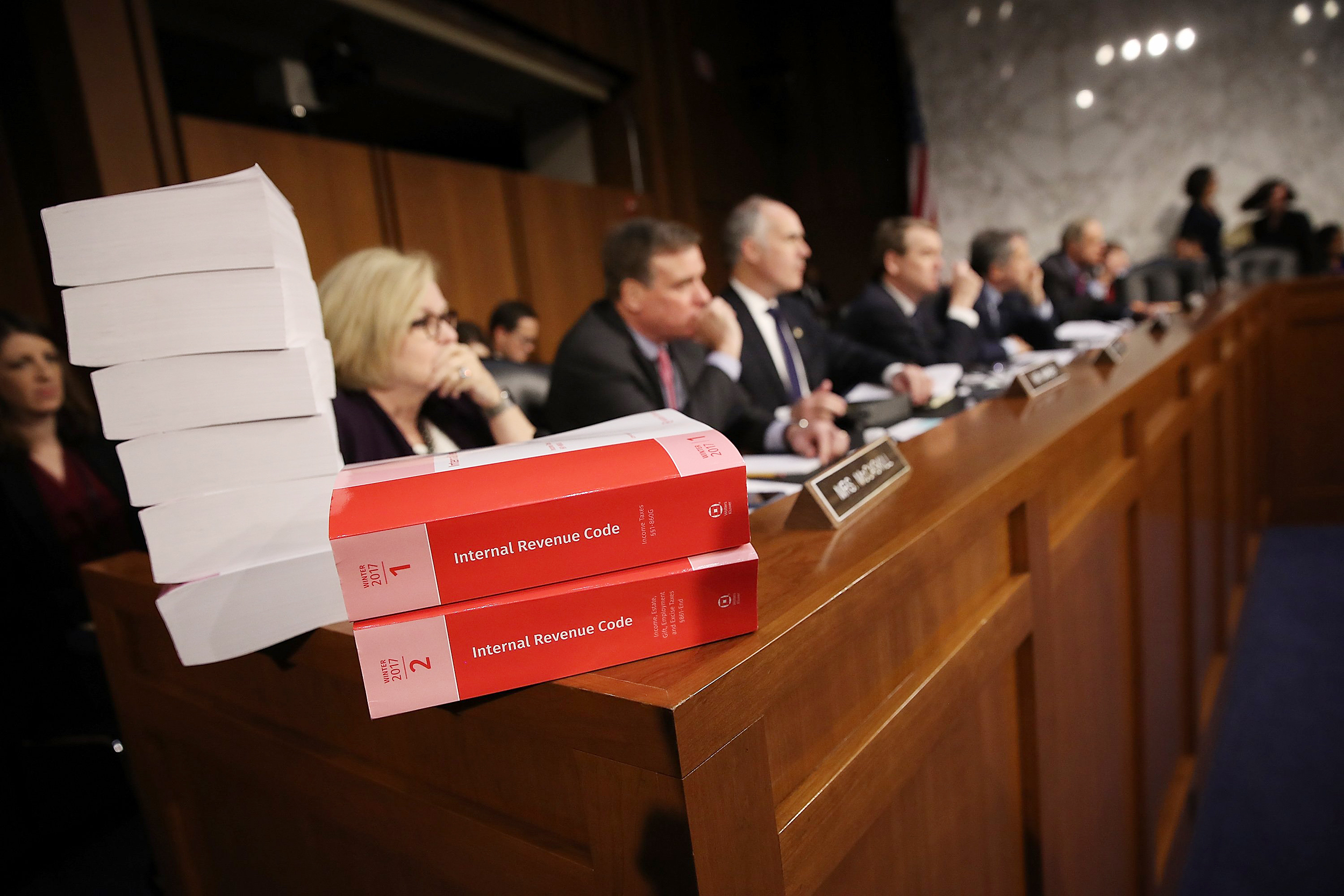 Image: Senate Finance Committee Accepts Repeal Of Affordable Health Care Act Individual Mandate In Tax Bill