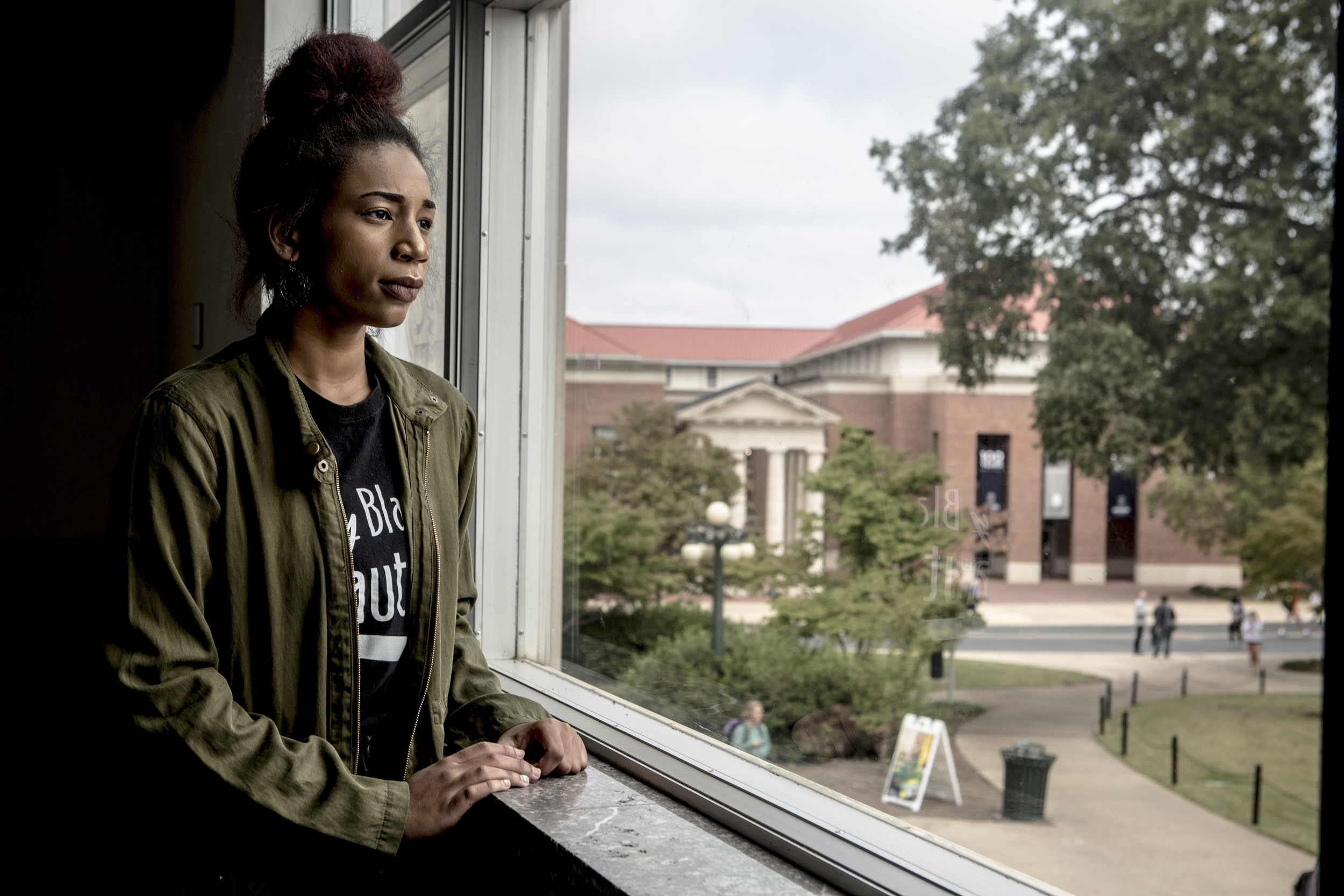 Image: Makala McNeil stands for a portrait at the University of Mississippi.