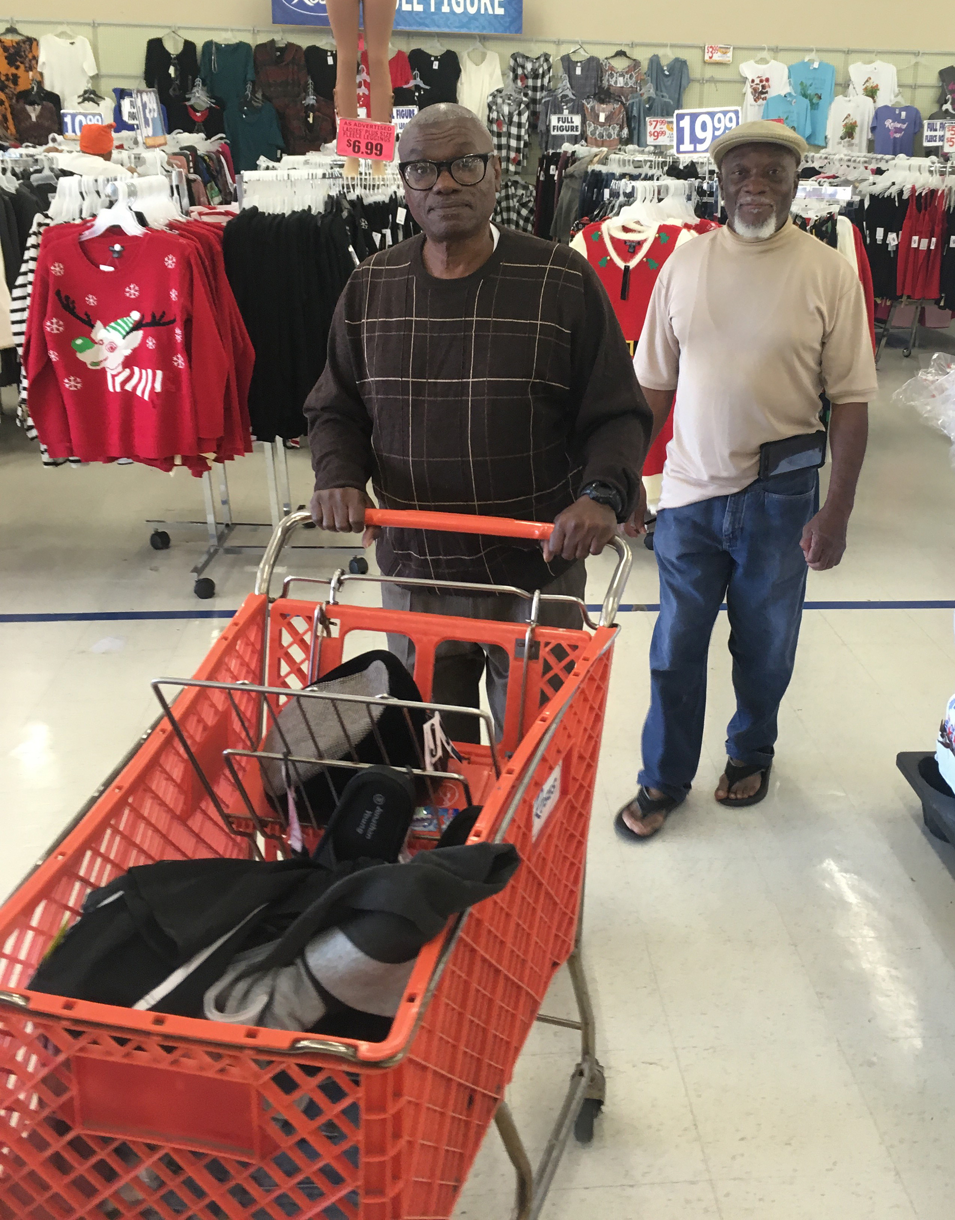 Image: Wilbert Jones's first shopping trip, the day after his release from prison.