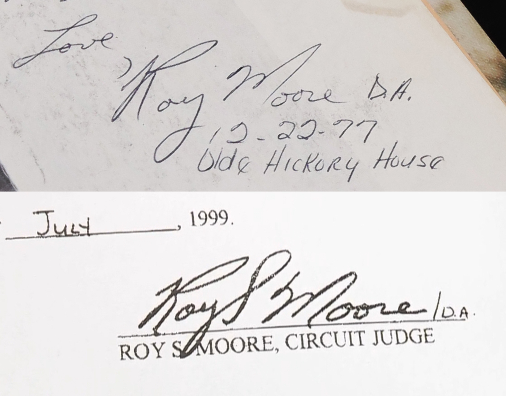 Image: Roy Moore signature