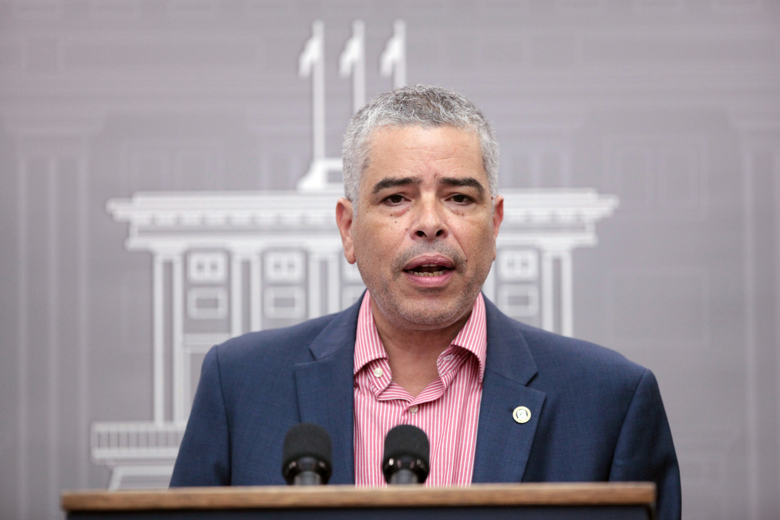 Image: Ramos, executive director of the Electric Power Authority of Puerto Rico (PREPA), addresses the media during a news conference, in San Juan