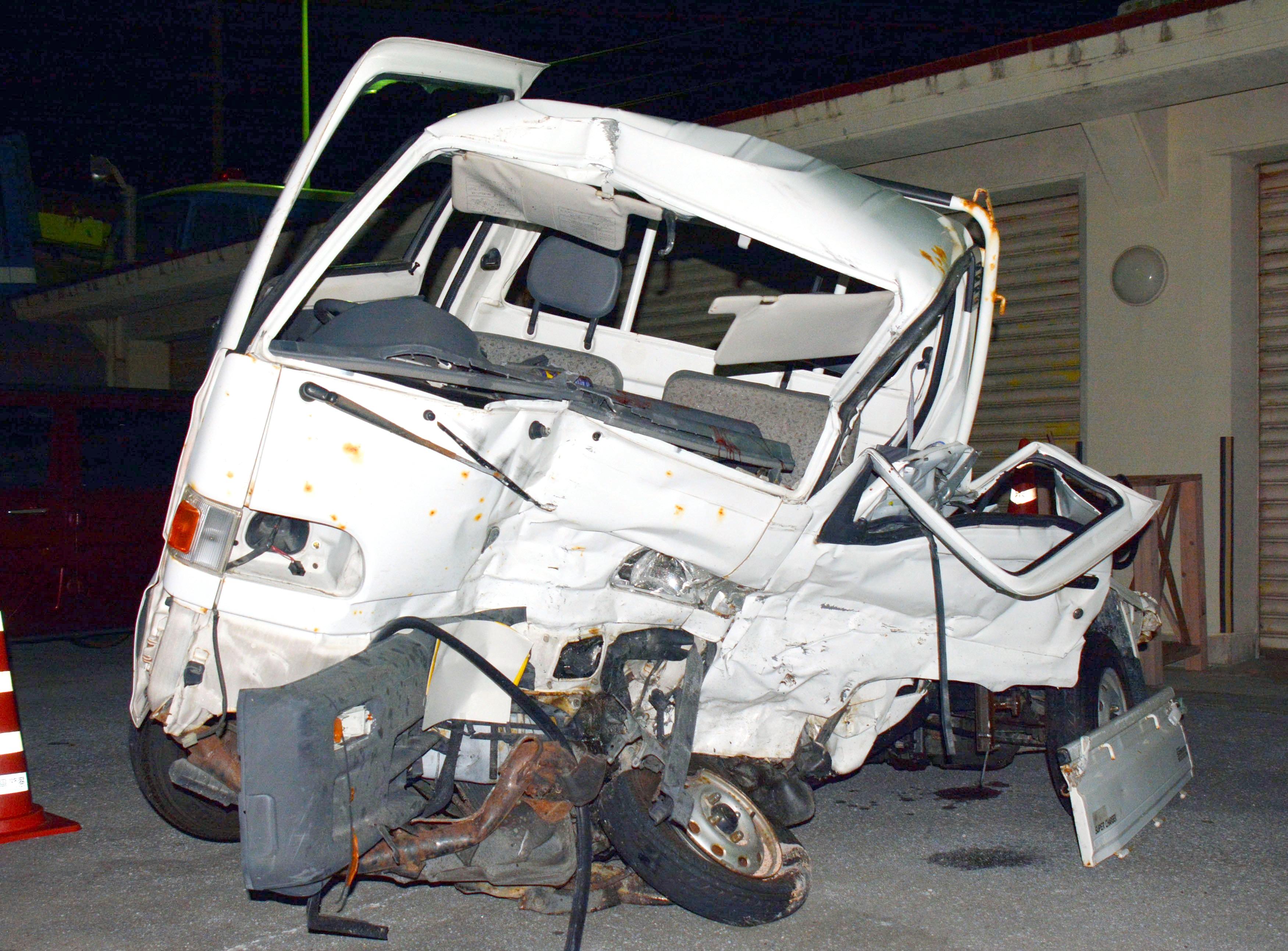 IMAGE: Wrecked vehicle on Okinawa