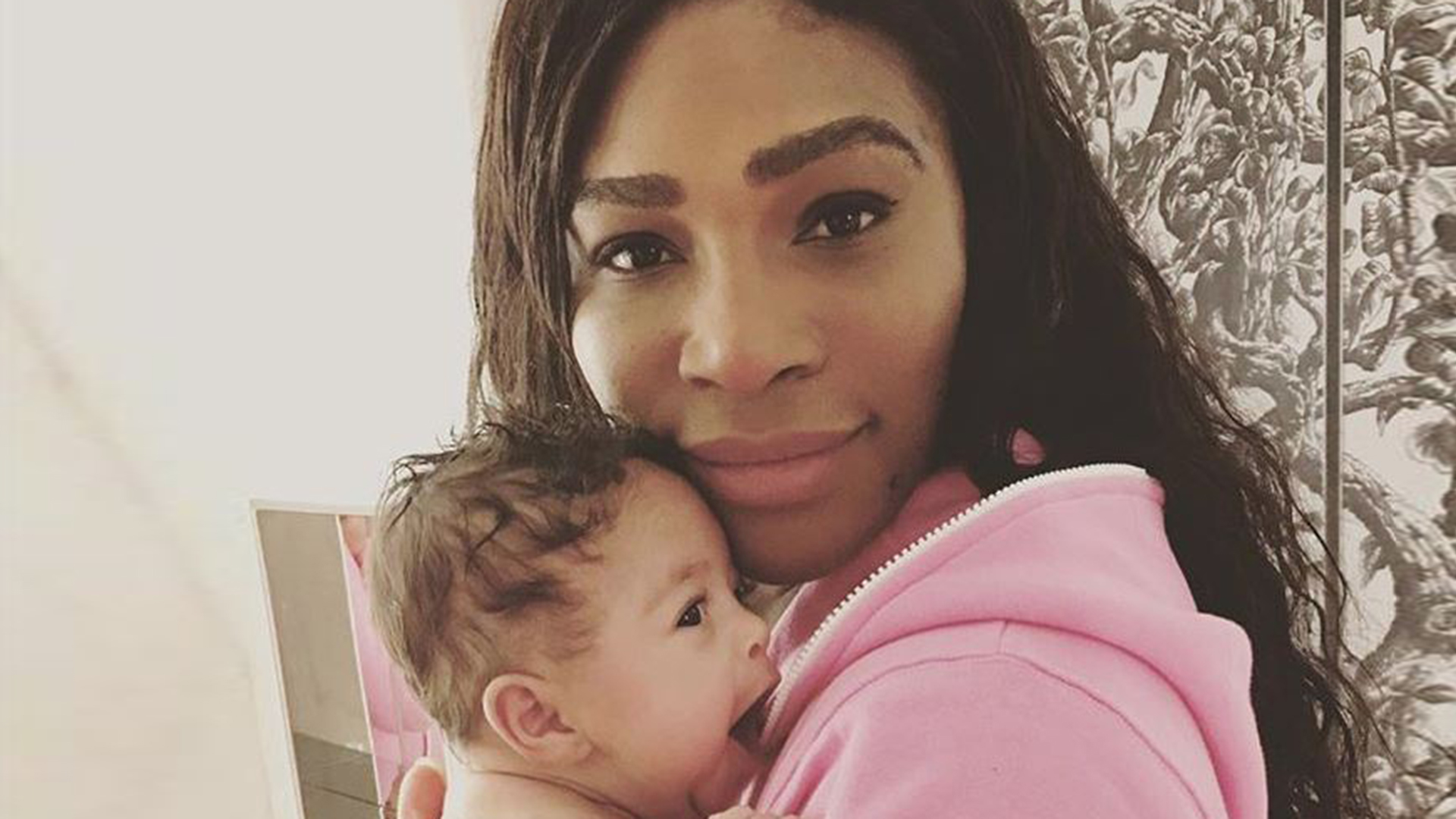 serena williams shares adorable pics of baby alexis