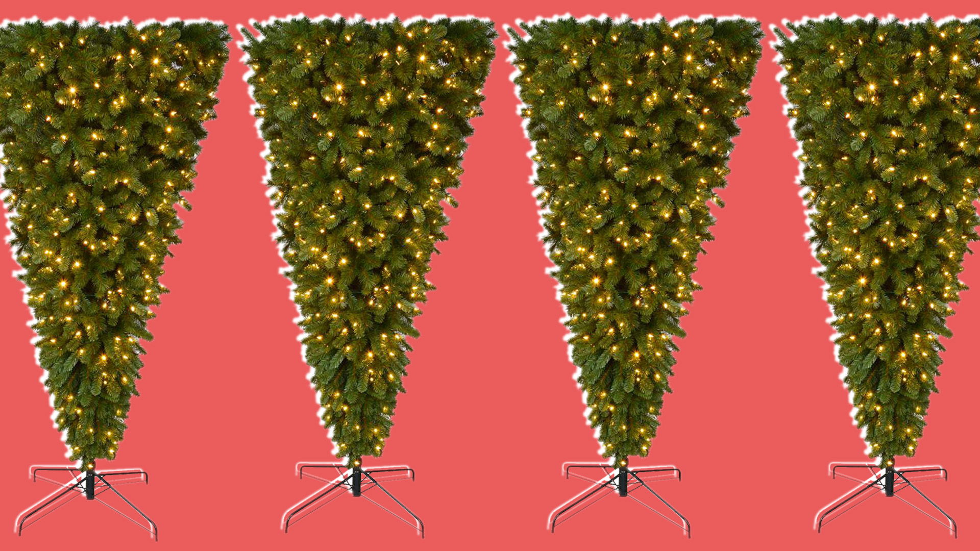 upside down christmas trees are a trend but not everyone finds them festive