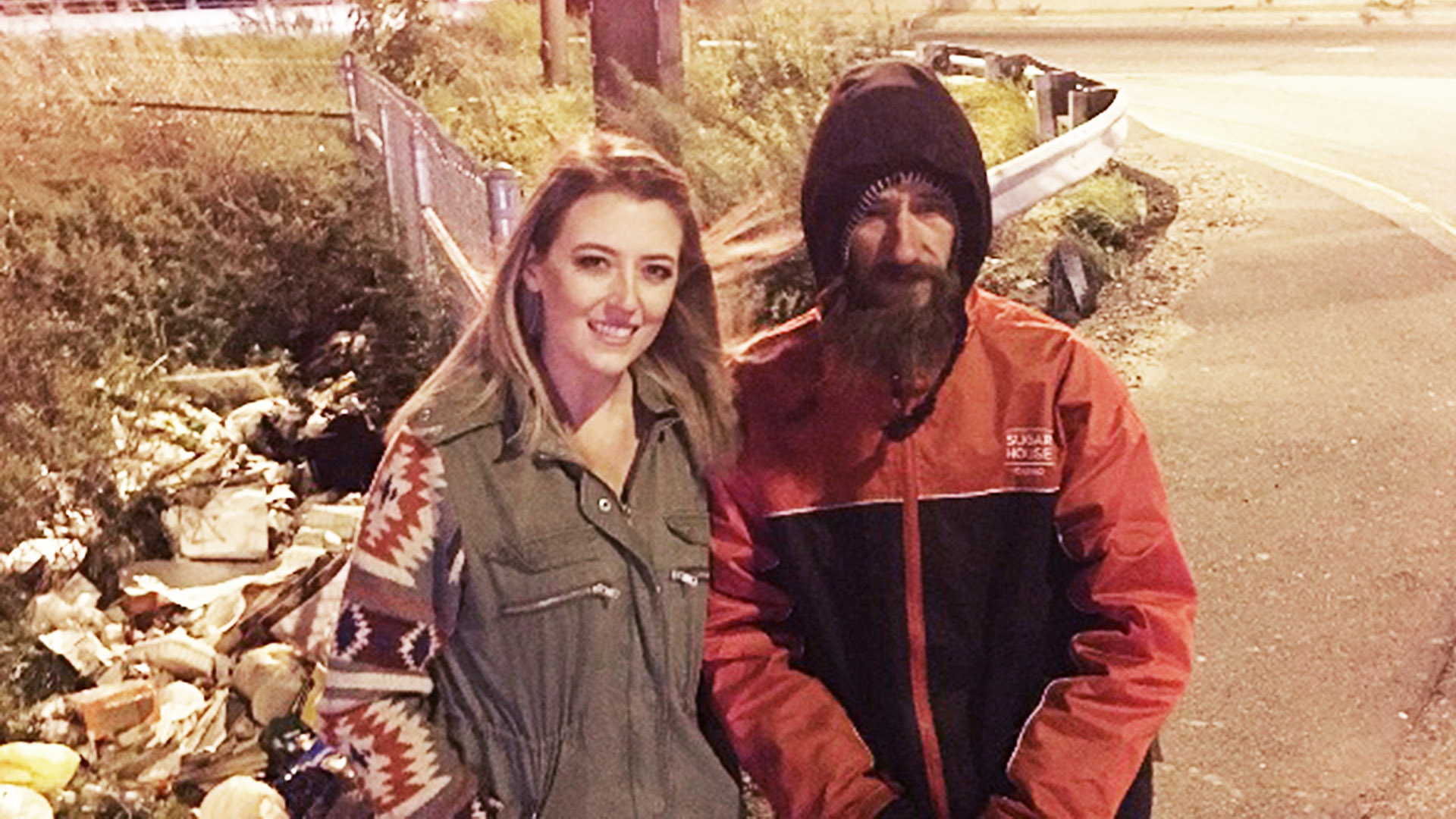 Homeless man buys stranded woman gas with last $20 — here's how she repaid him