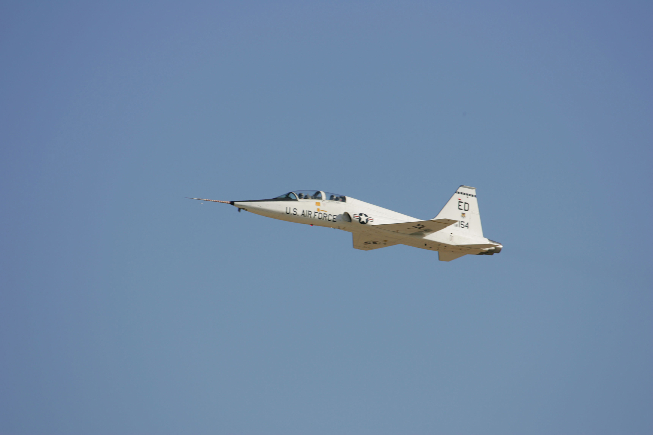 Image: NASA T-38 Trainer aircraft takes off from Edwards Air Force Base in California.