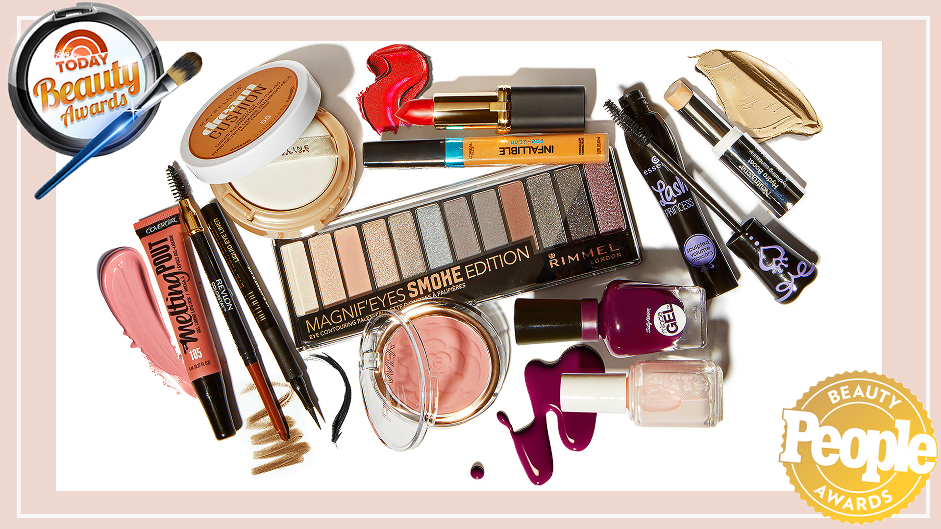 People And Today Beauty Awards 2017 Best Drugstore Makeup