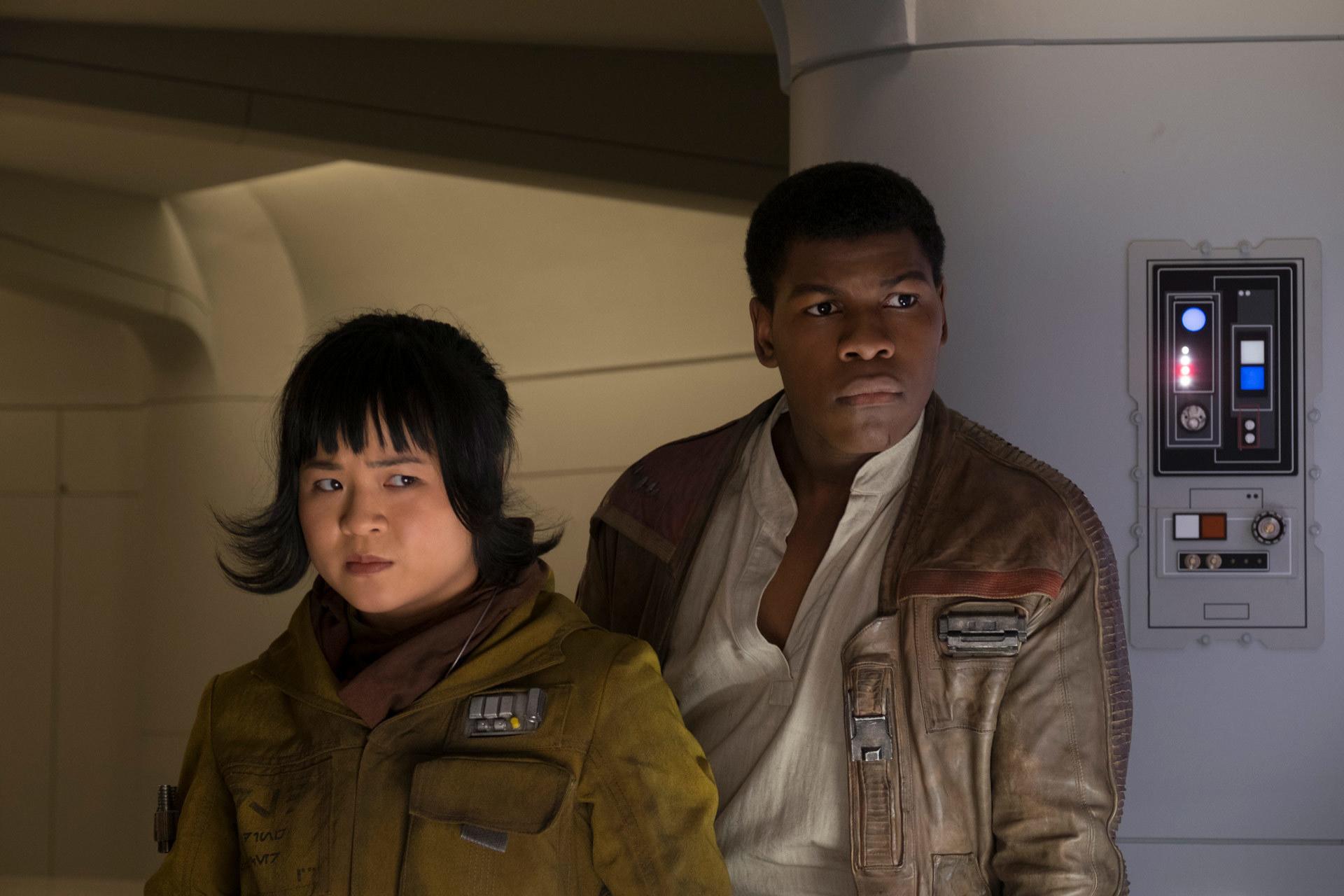 Image: Kelly Marie Tran and John Boyega in Stars Wars: The Last Jedi