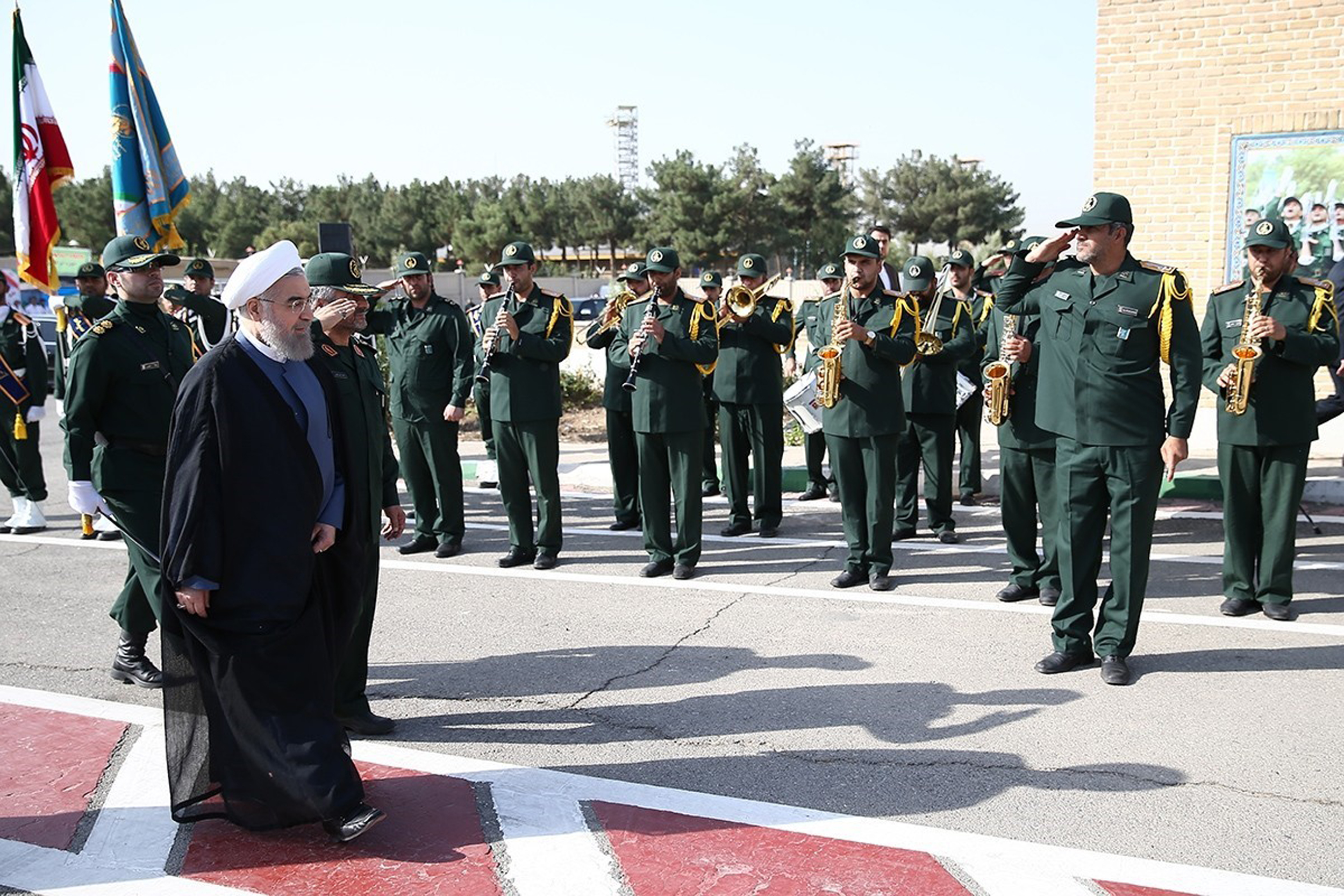 Image: Iranian President Rouhani Attends Gathering of IRGC Commanders