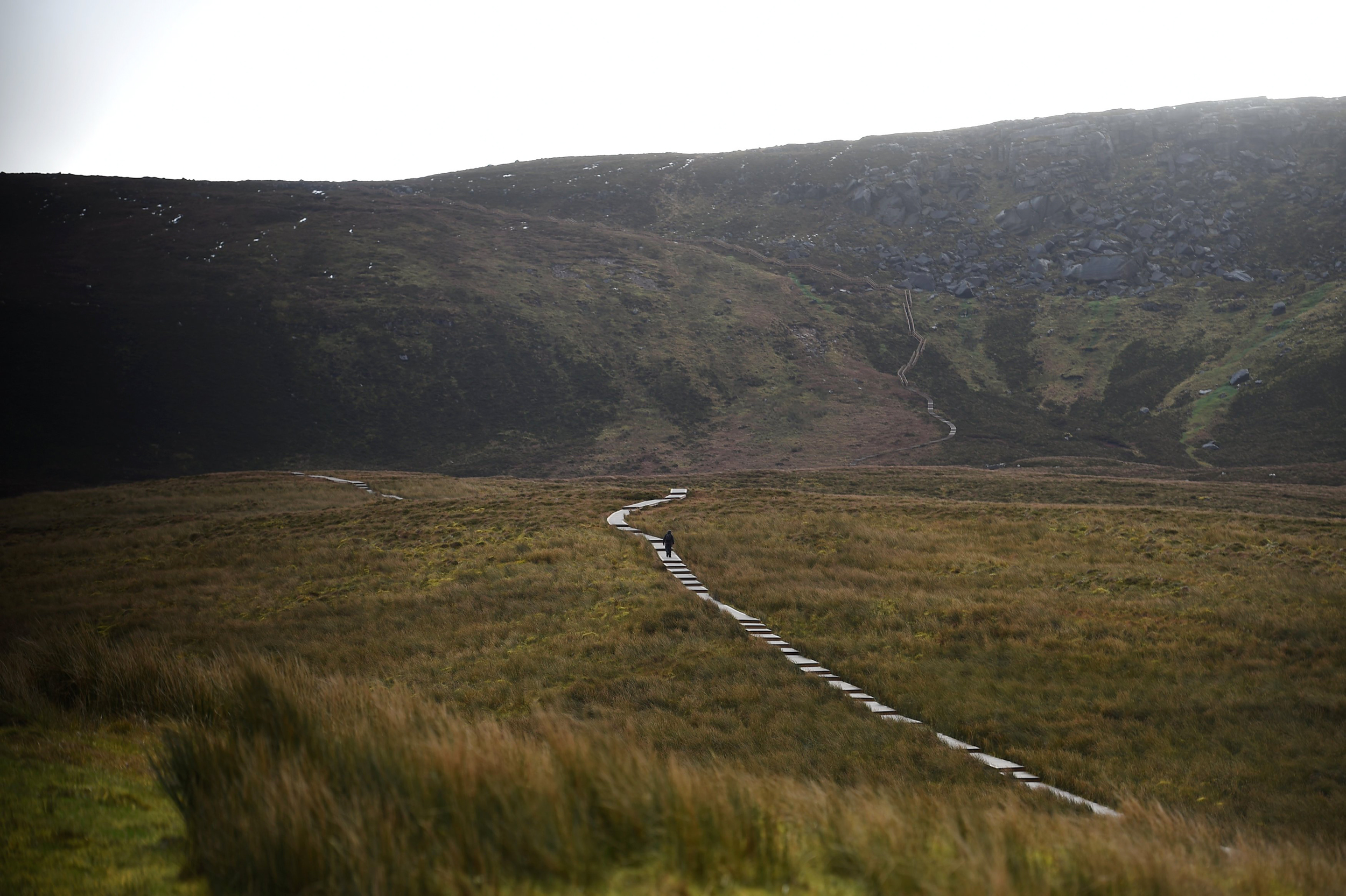 Image: A boardwalk to the border between Ireland and Northern Ireland