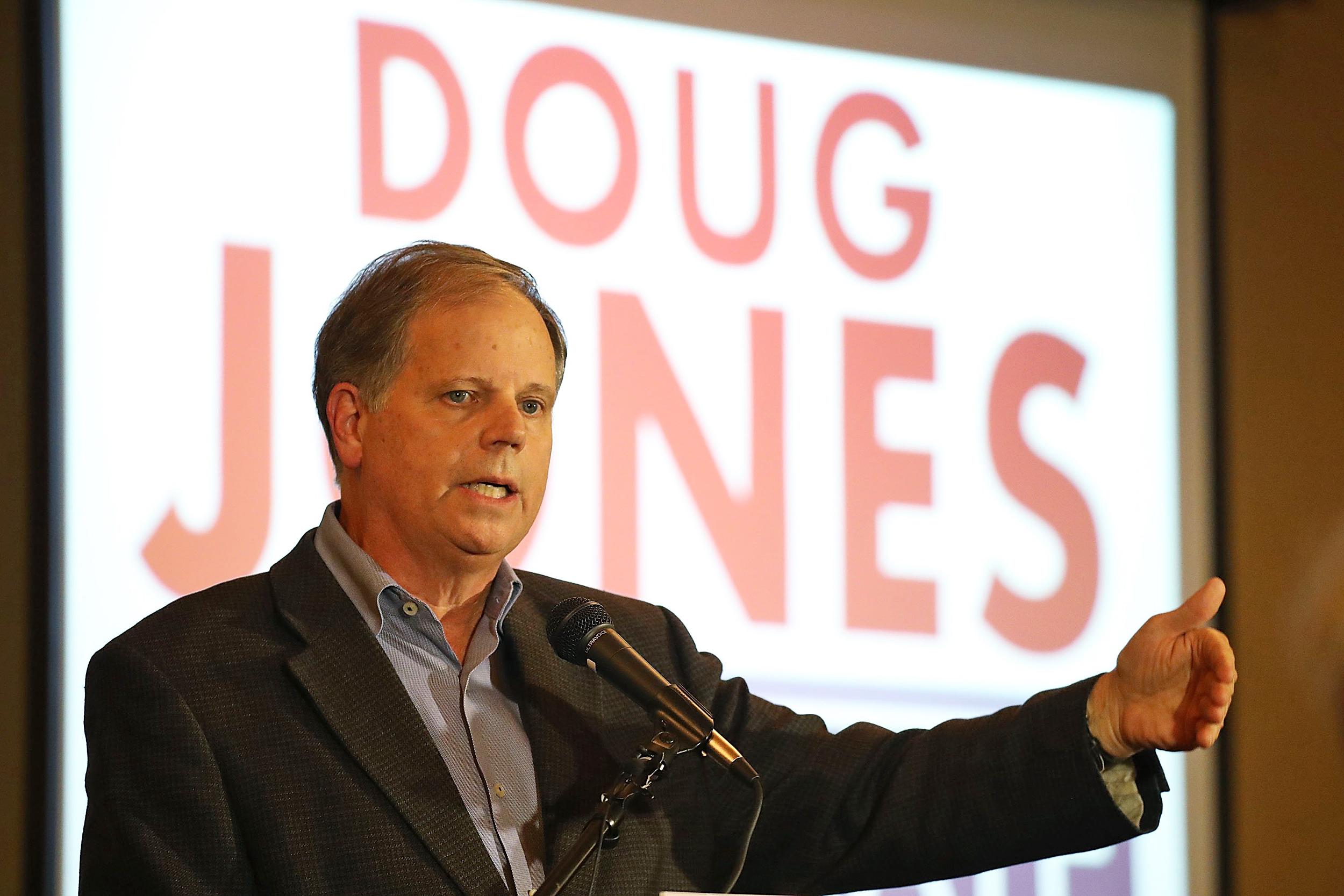 Image: Alabama Senate Candidate Doug Jones Holds Women's Wednesday Campaign Rally