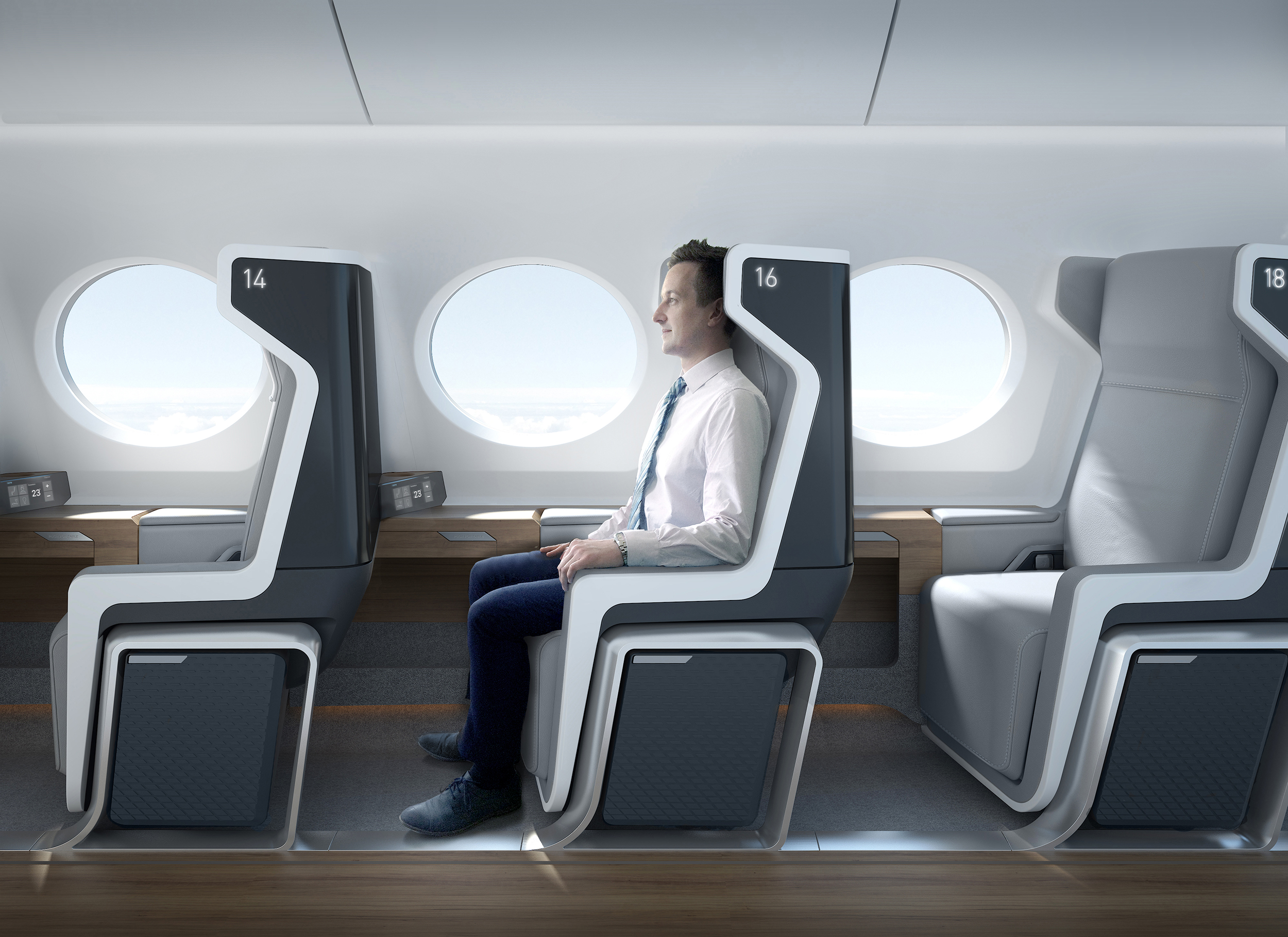 Image: Interior of Boom's supersonic jet