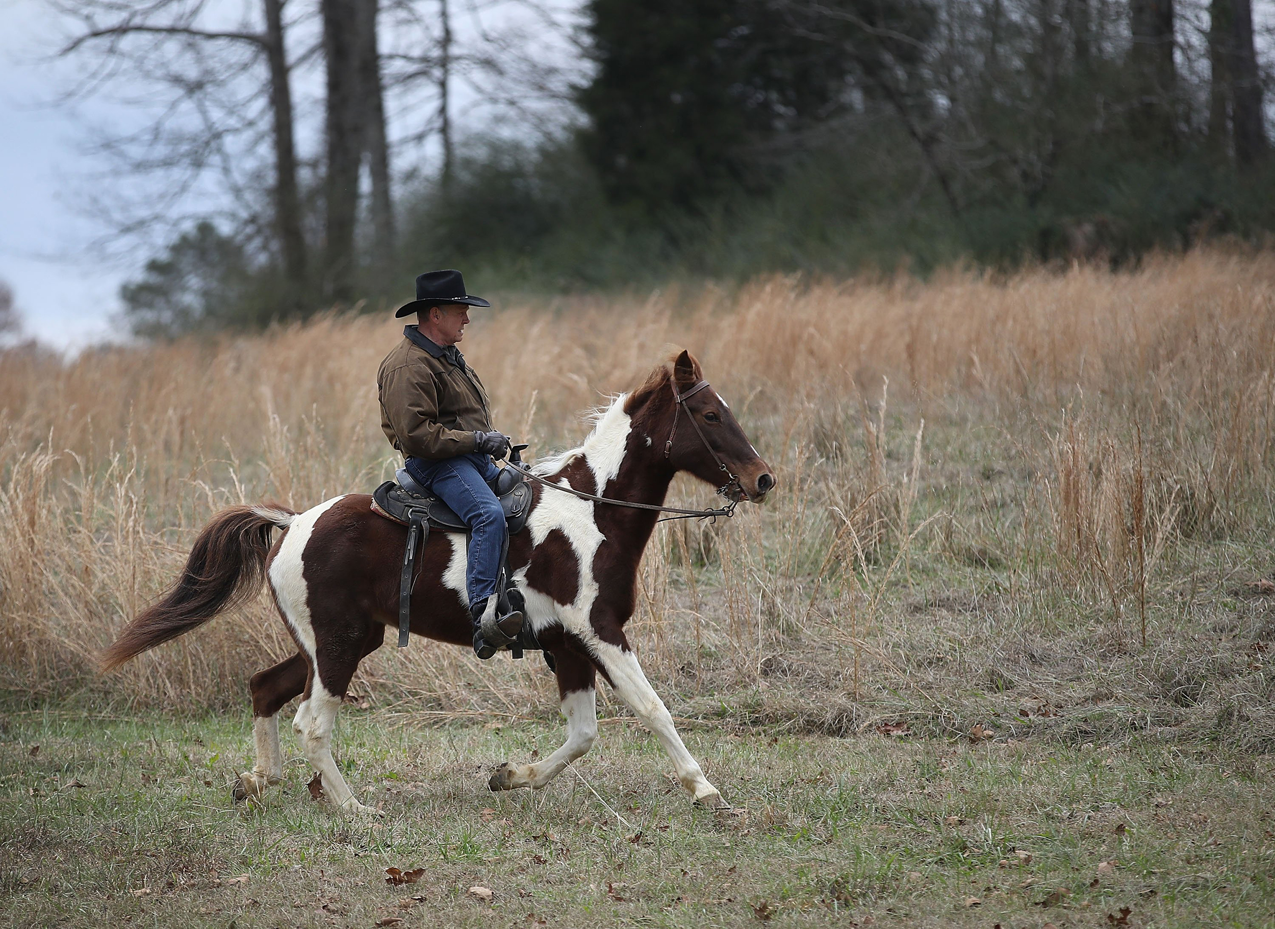 Image: GOP Senate Candidate Judge Roy Moore Arrives At Polling Station To Vote By Horseback