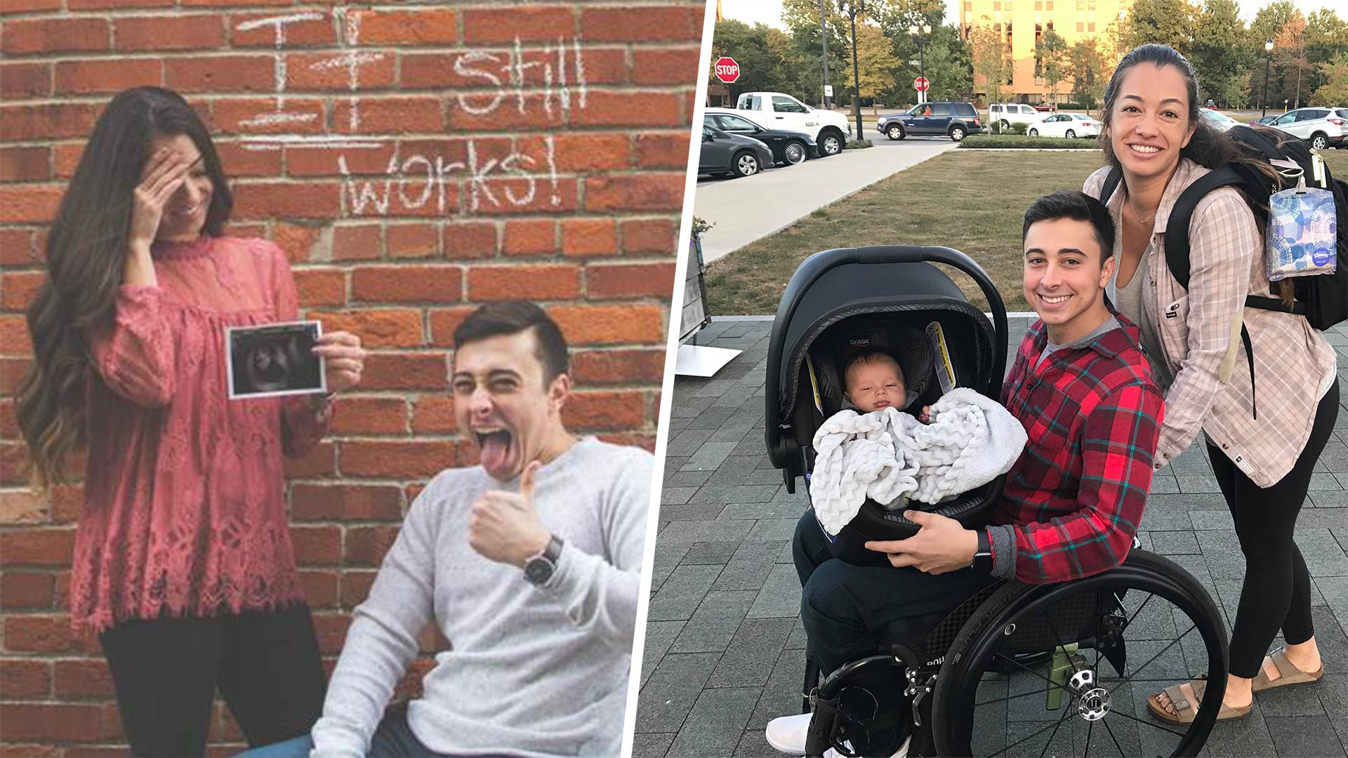 Paraplegic man, fiancée welcome son after funny announcement