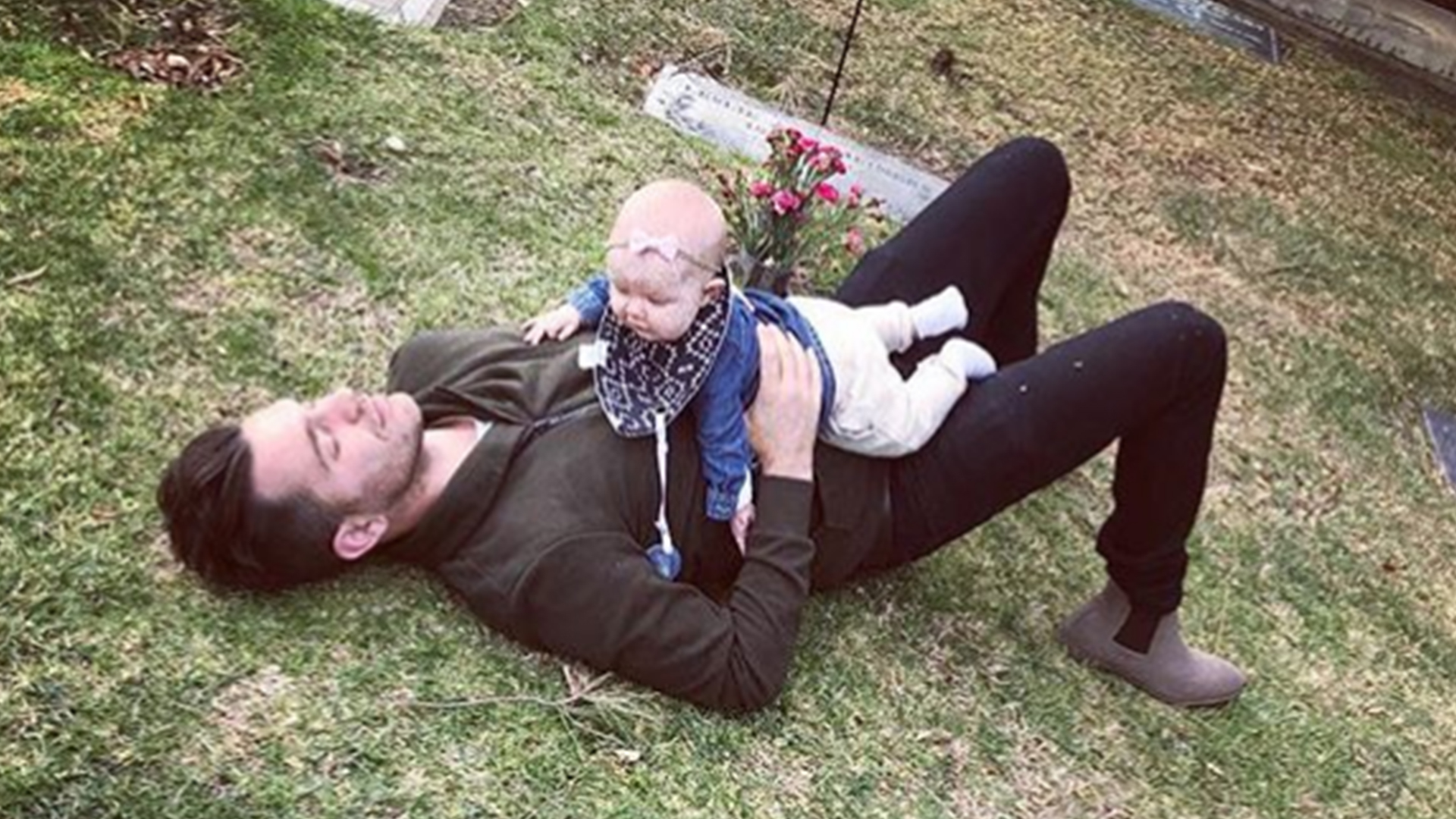 Andy Grammer takes daughter to his mother's grave for 'extra