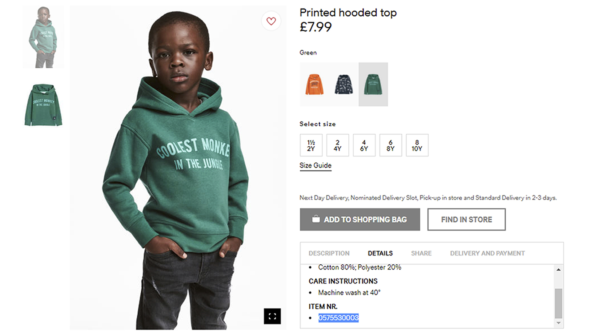 Hu0026M Apologizes Following Outrage Over U0027monkeyu0027 Sweatshirt Ad Seen As Racist