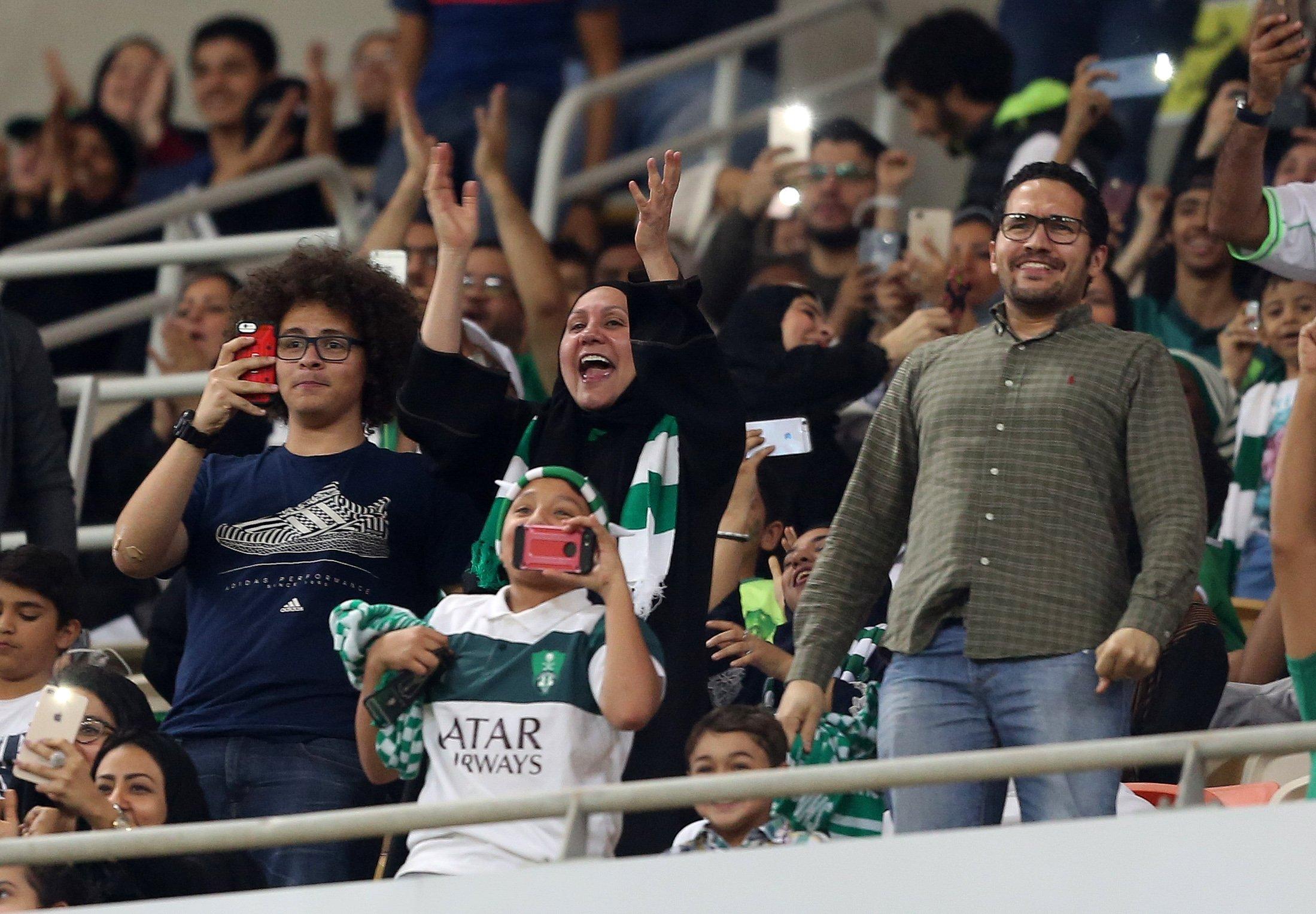 Saudi-women-score-right-to-watch-men's-soccer-in-stadiums