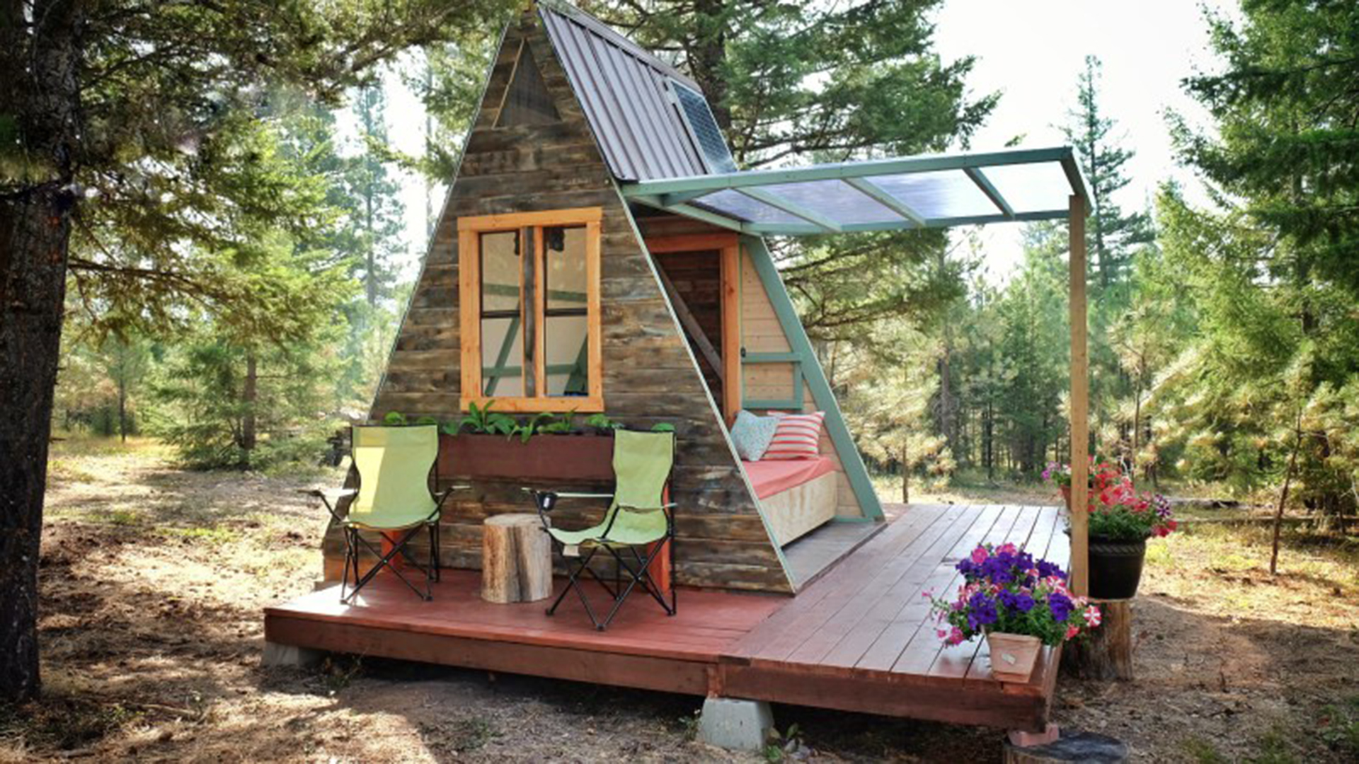 this cute cabin will give you serious summer camp nostalgia. Black Bedroom Furniture Sets. Home Design Ideas