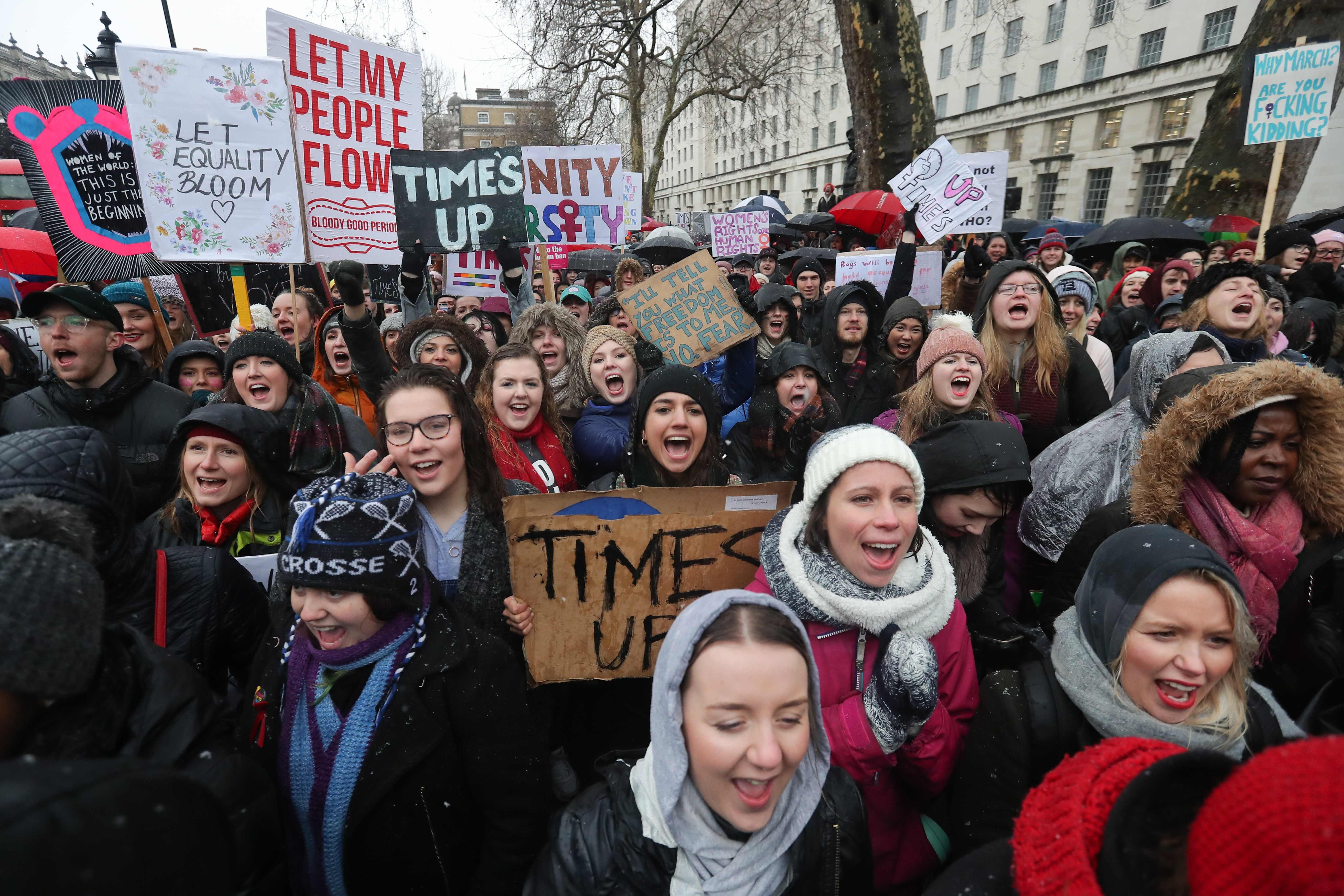 Demonstrators rally worldwide for second day of Women's Marches