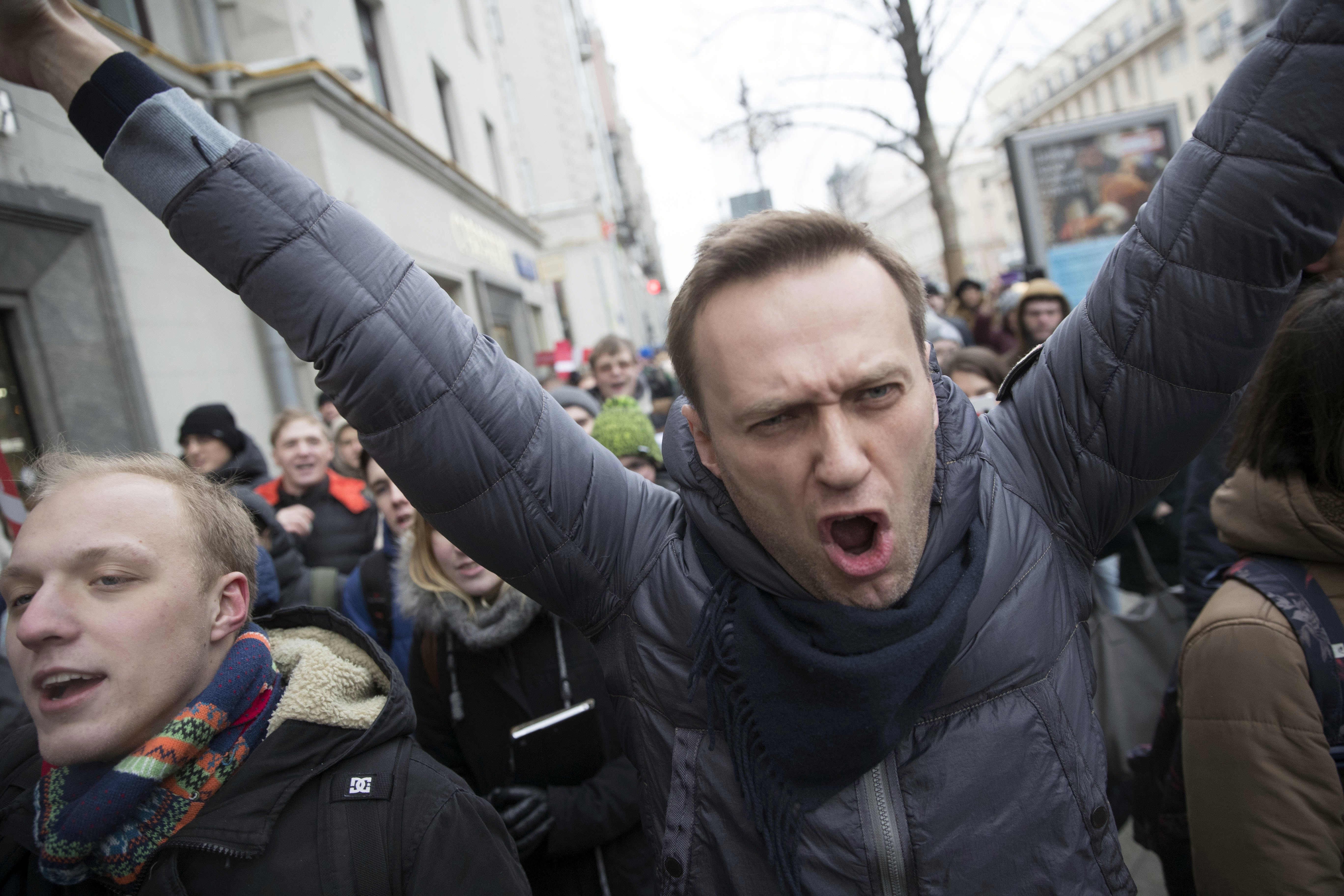 How supporters of Navalny in Moscow went on strike 98