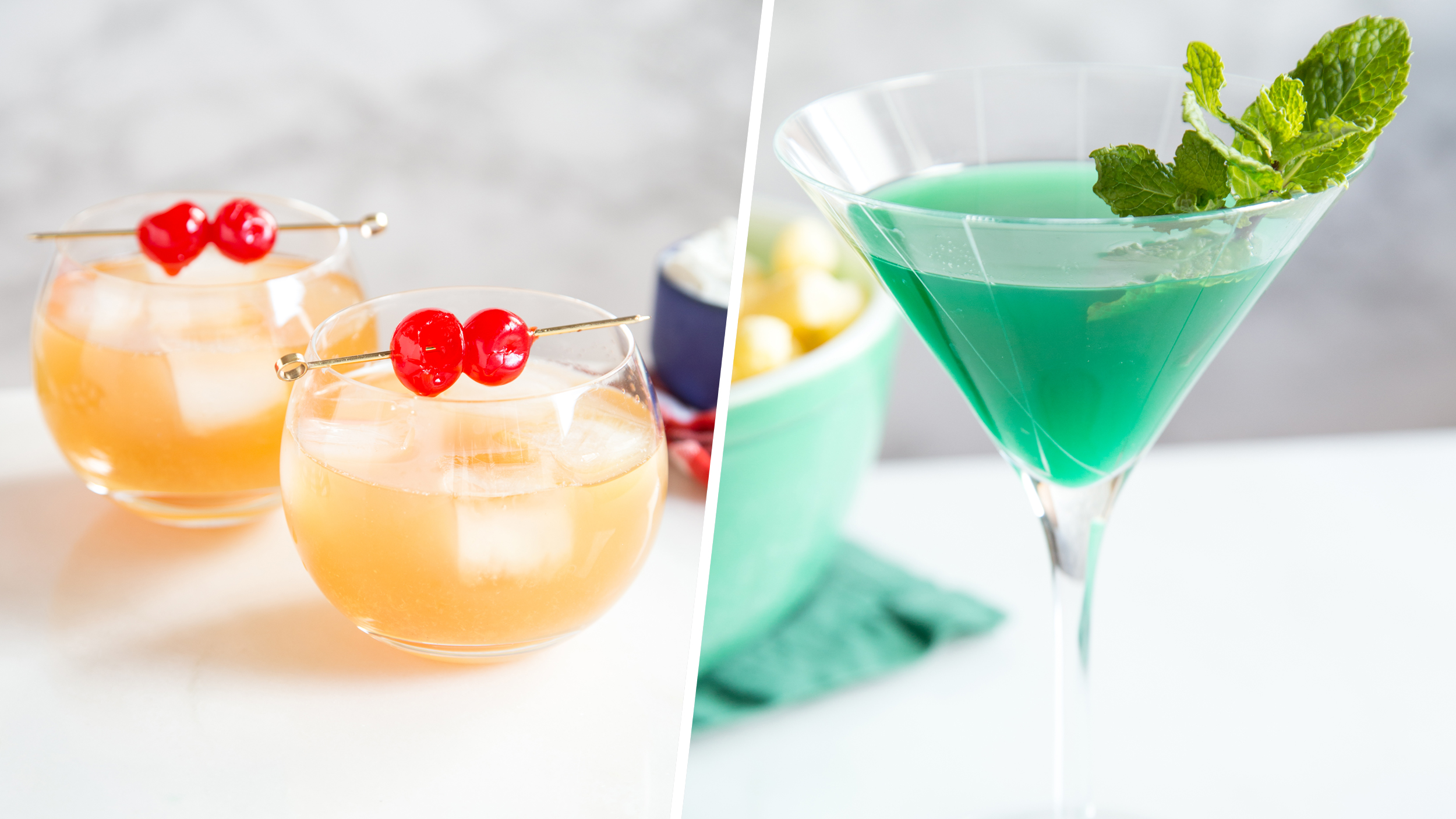 these super bowl-themed cocktails are perfect for game day
