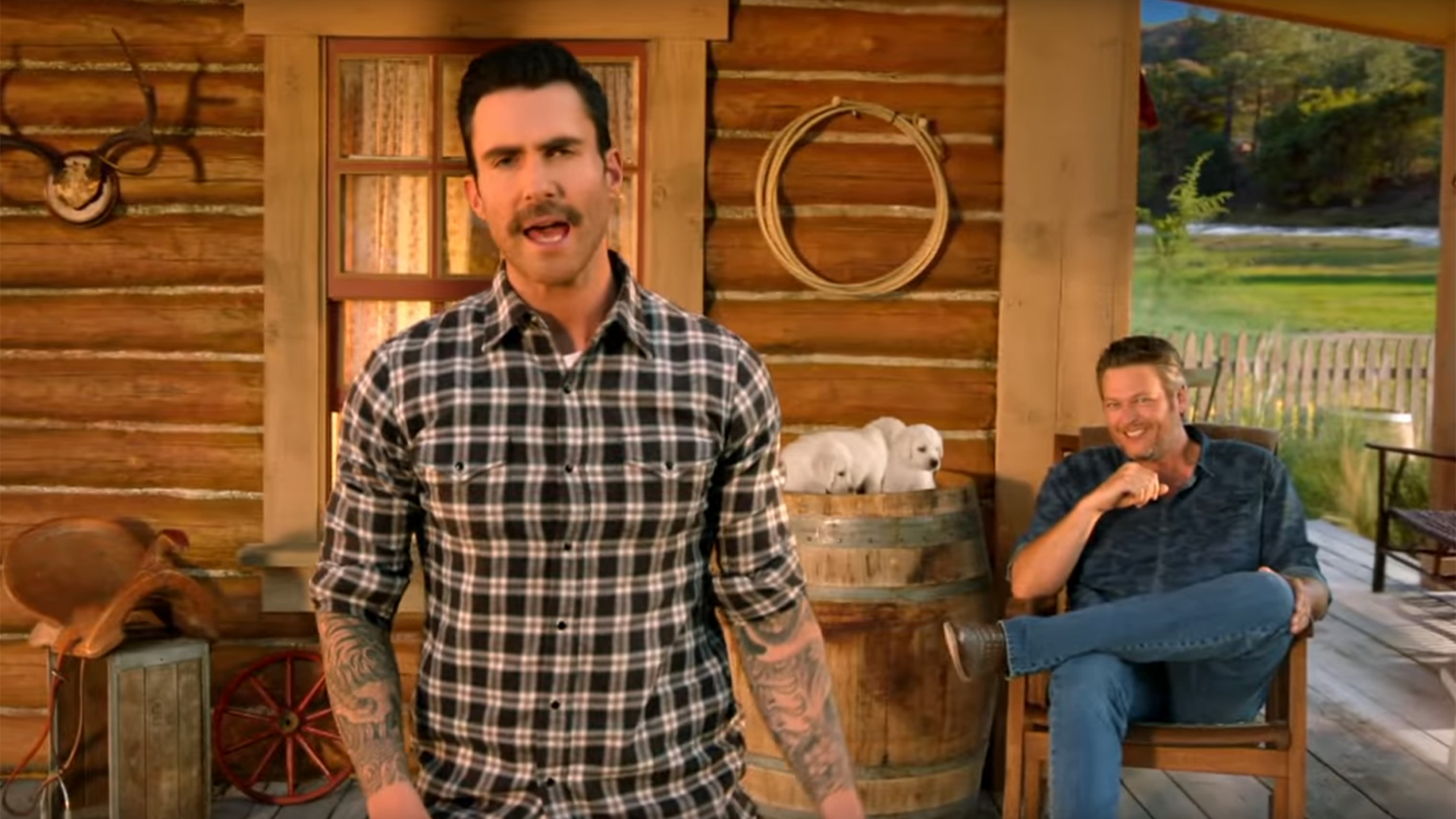 The Voice coaches go country — and then some — for Super Bowl ad