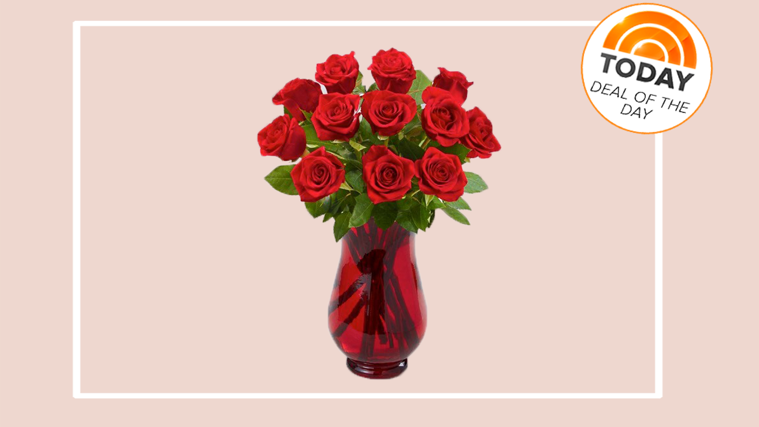 Deal of the day 50 percent off 12 long stem red roses reviewsmspy