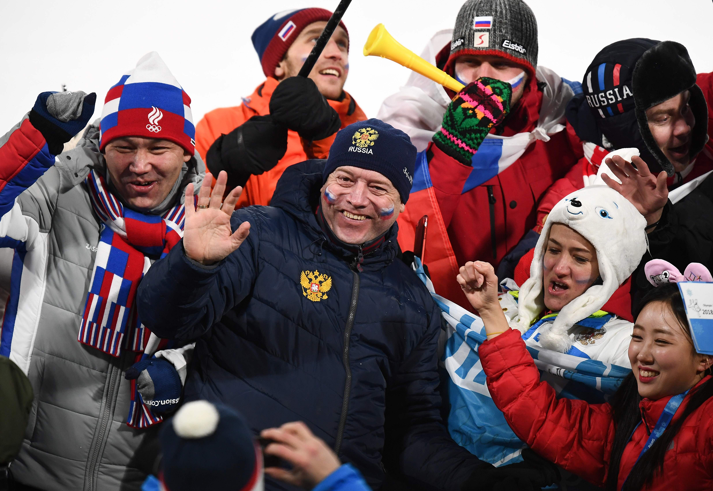 Olympic Athletes From Russia Celebrate After Winning The Men S Gold Medal Hockey Against Germany