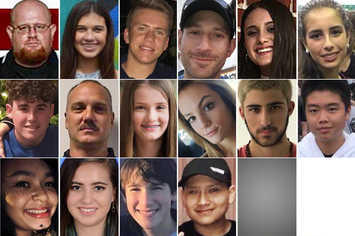 The 17 victims of the Parkland school shooting