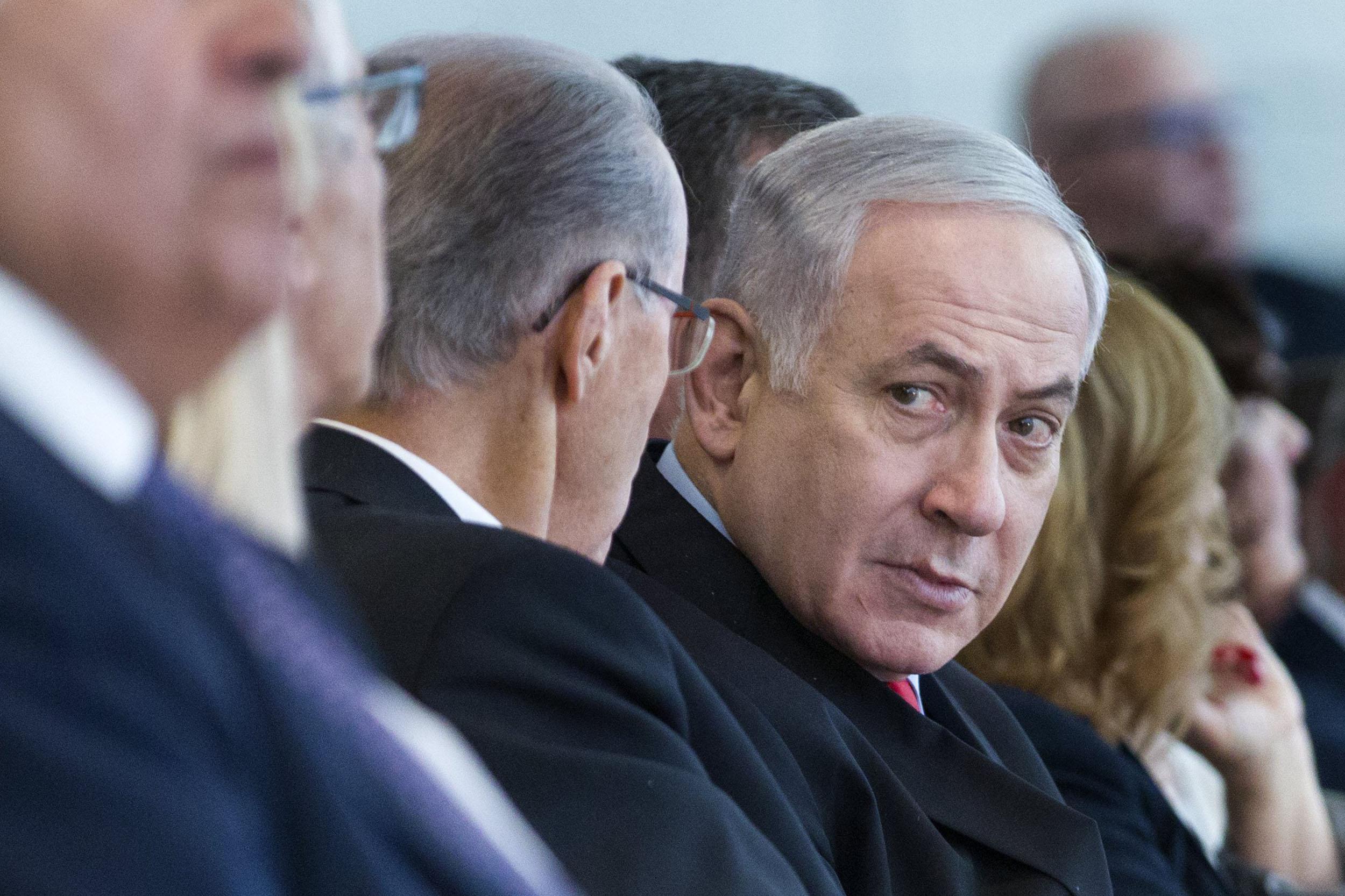 Image result for images of benjamin netanyahu and Nir Hefetz