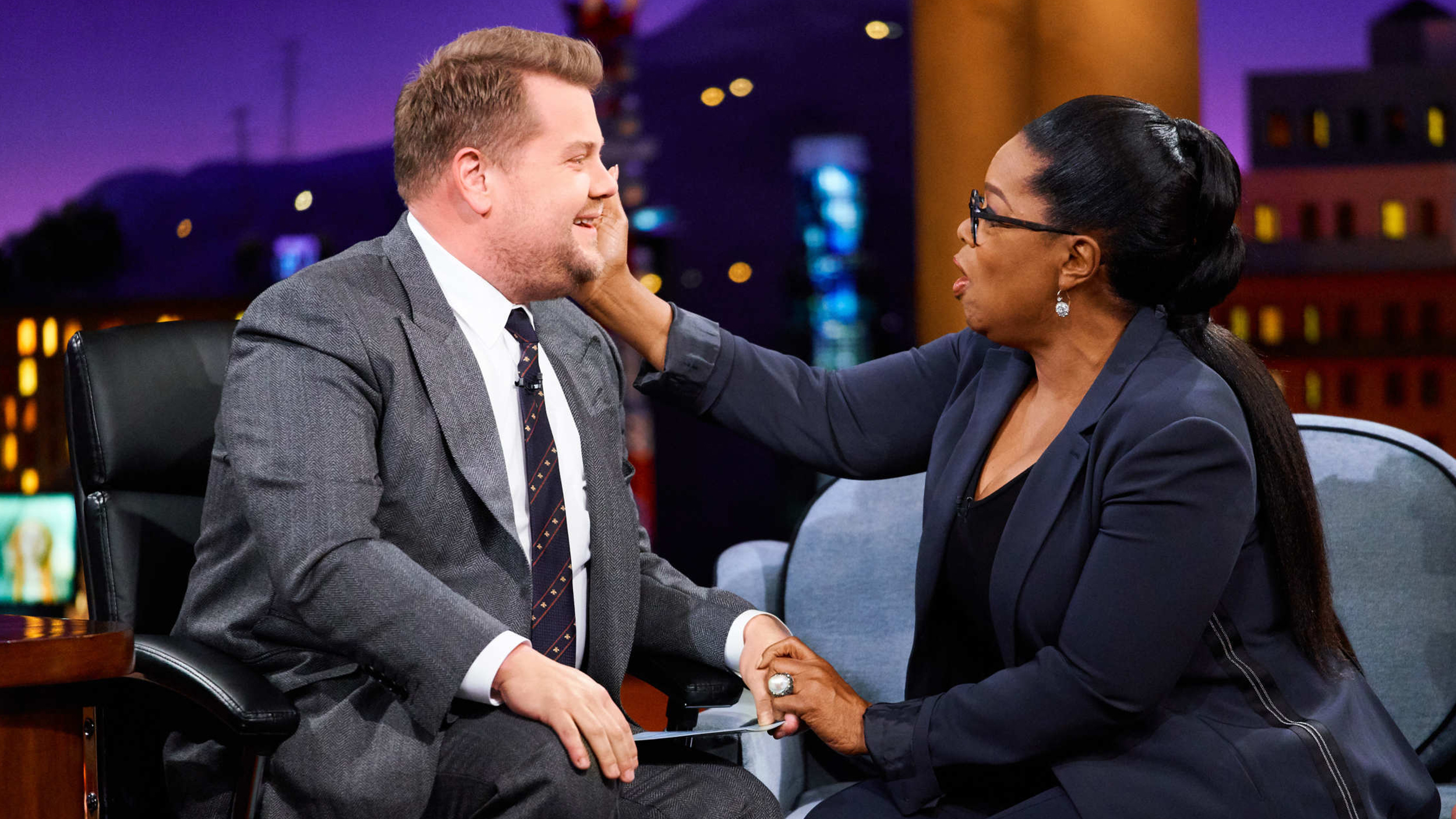 James Corden asked Oprah to make him cry, so she unleashed her powers
