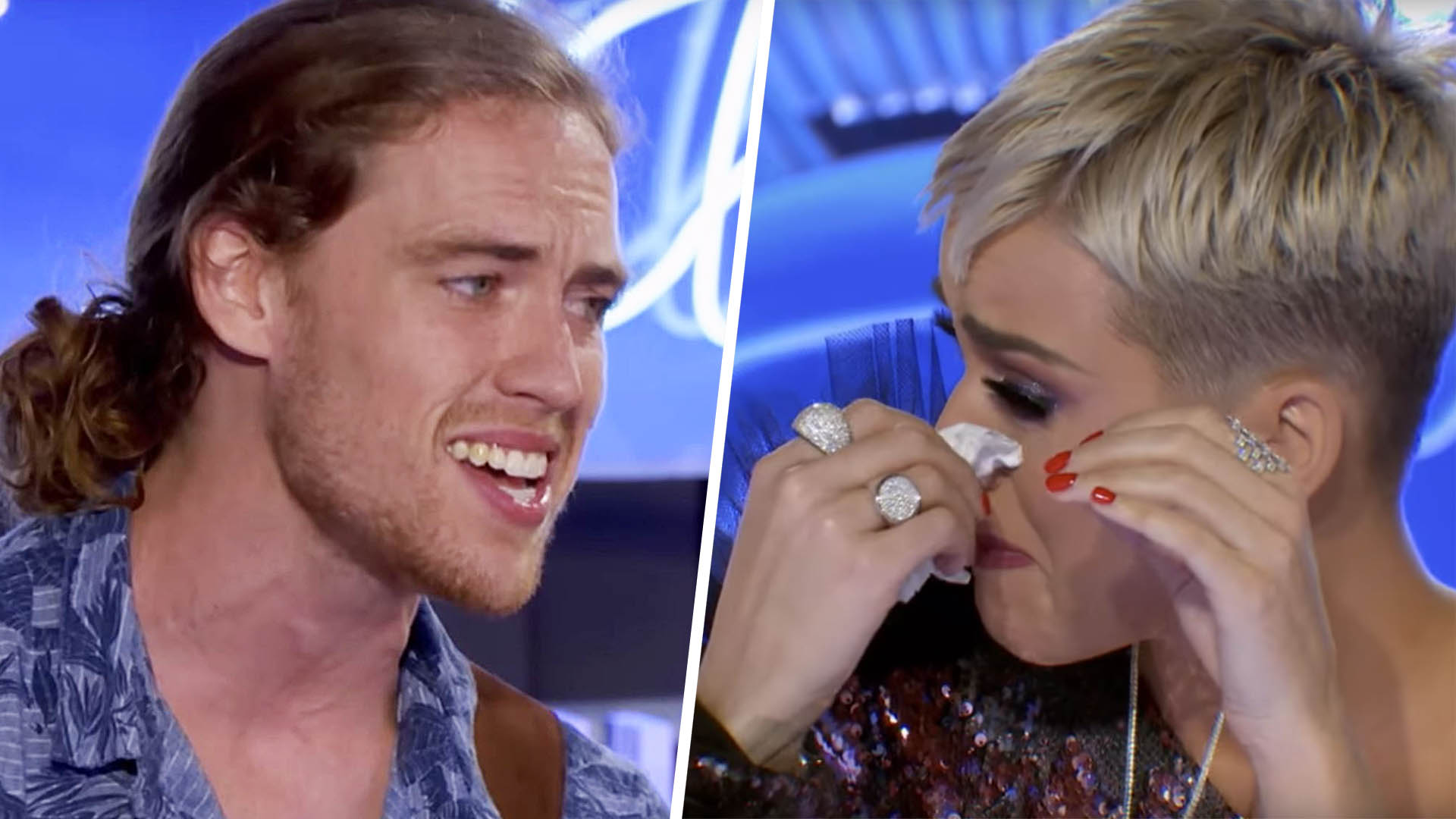 Formerly paralyzed singer brings Katy Perry to tears on 'American Idol'