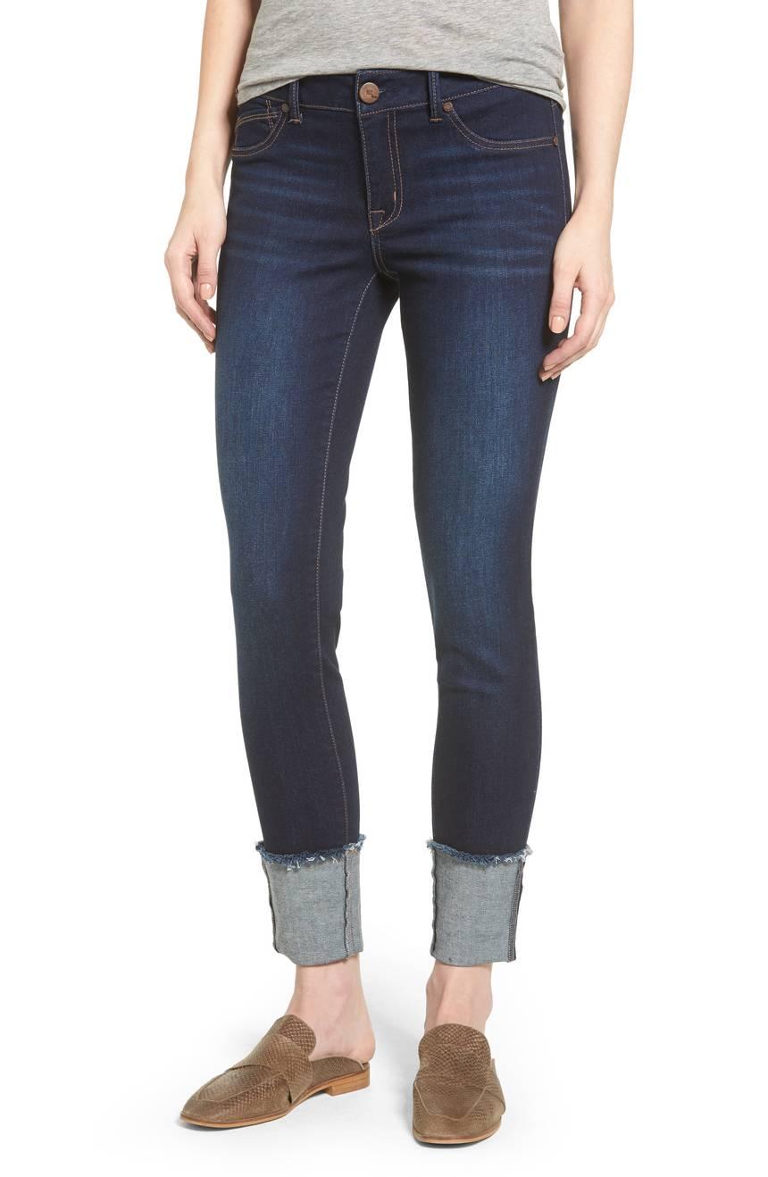 L and L Stuff 1822 Denim Ladies' Dark Ankle Skinny Jeans
