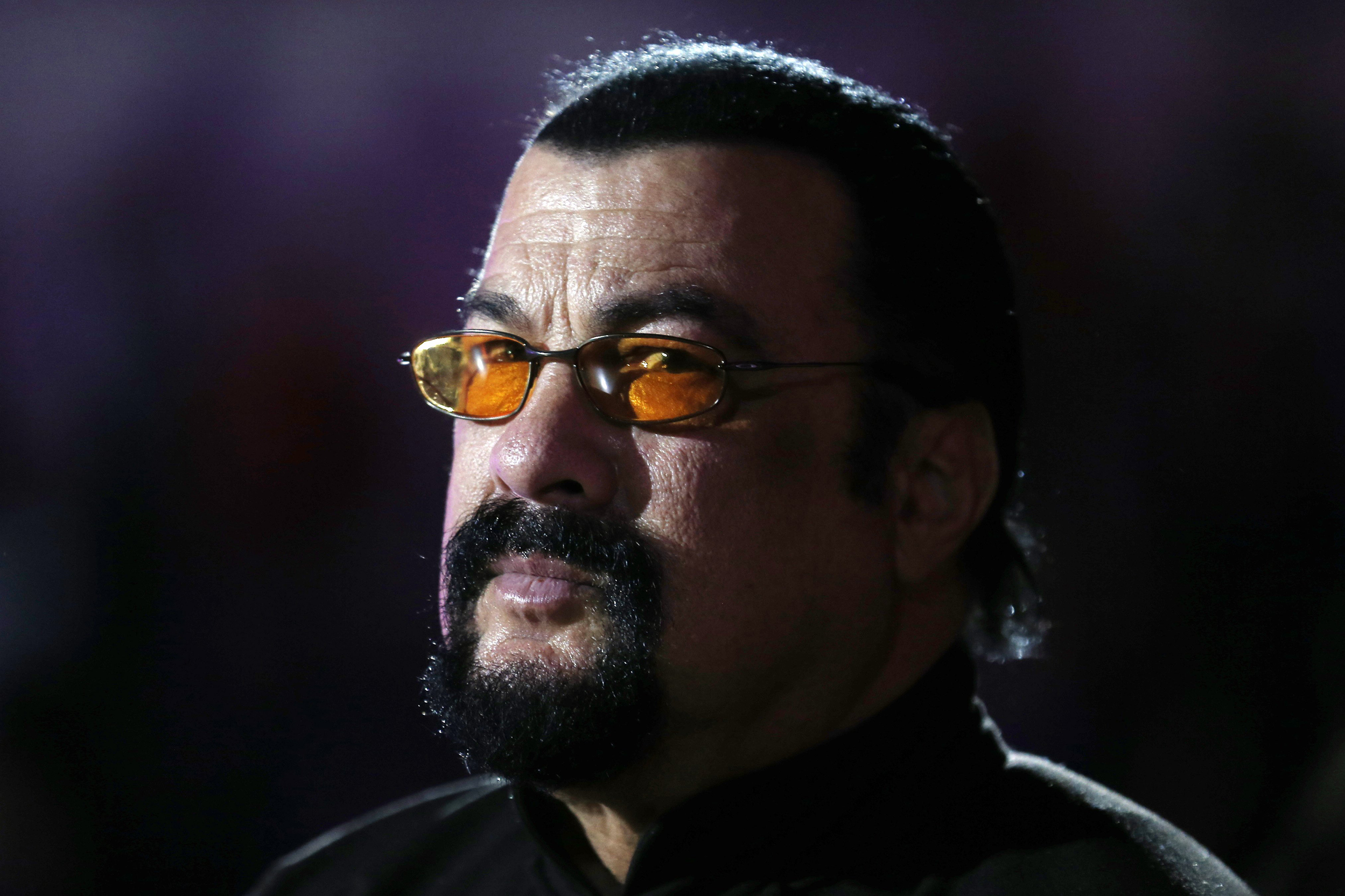 Steven Seagal sexually assaulted me at audition, former model claims