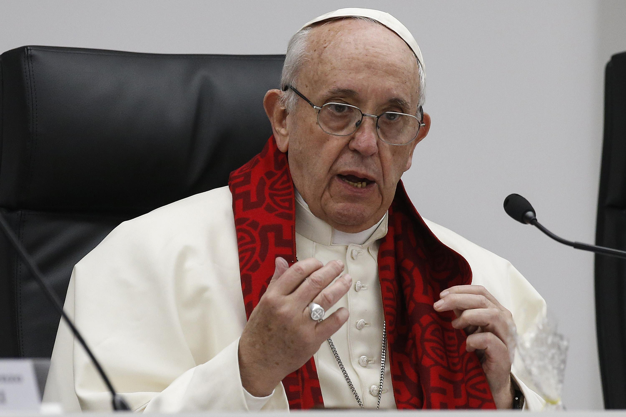Pope says men who pay for sex are 'sick,' prostitution is torture
