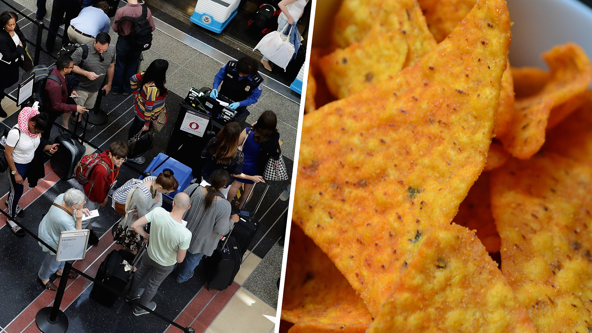 TSA screening may now involve removing snacks from carry-ons