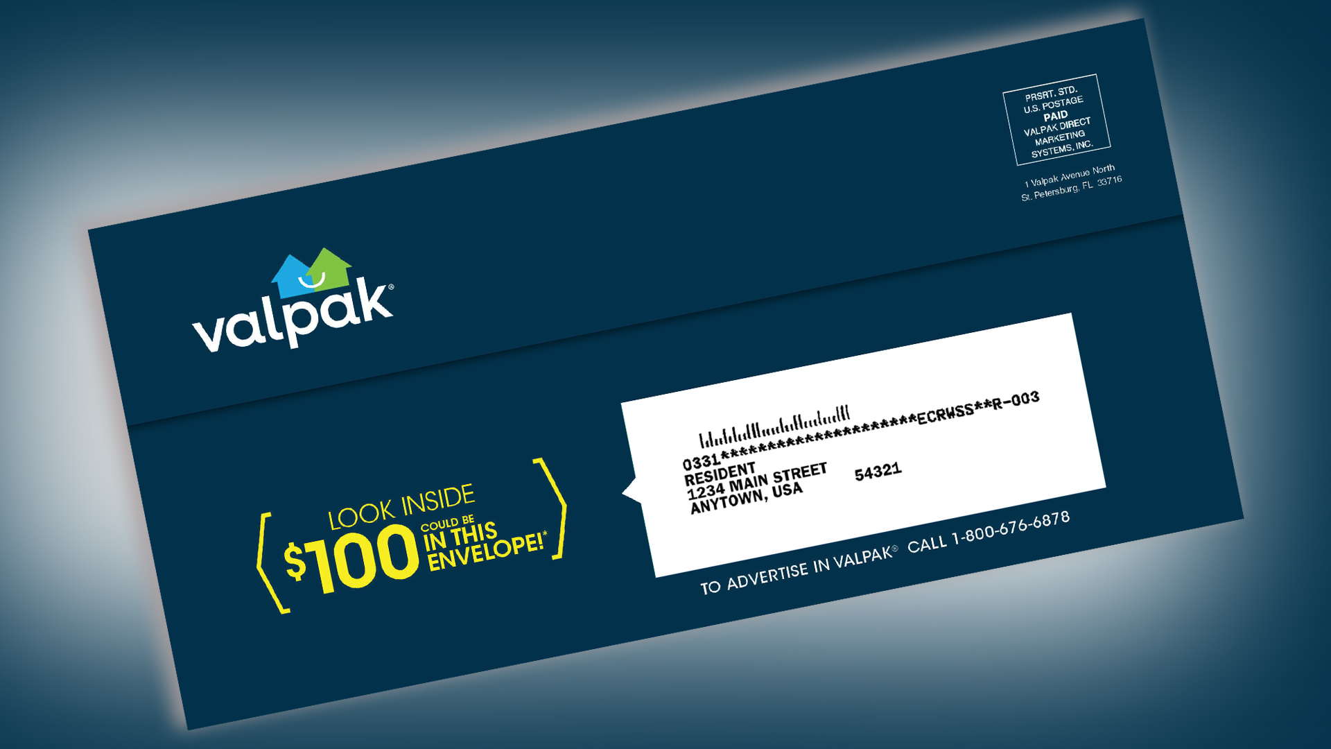 Free money! There might be a $100 check in that Valpak envelope ...
