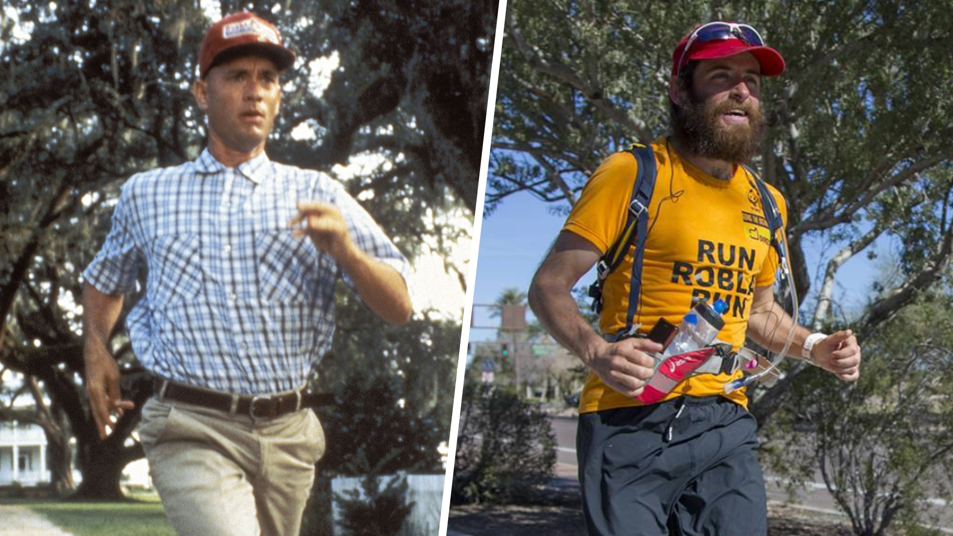 d84ac3217f9 Real-life Forrest Gump re-creates film's epic run across US