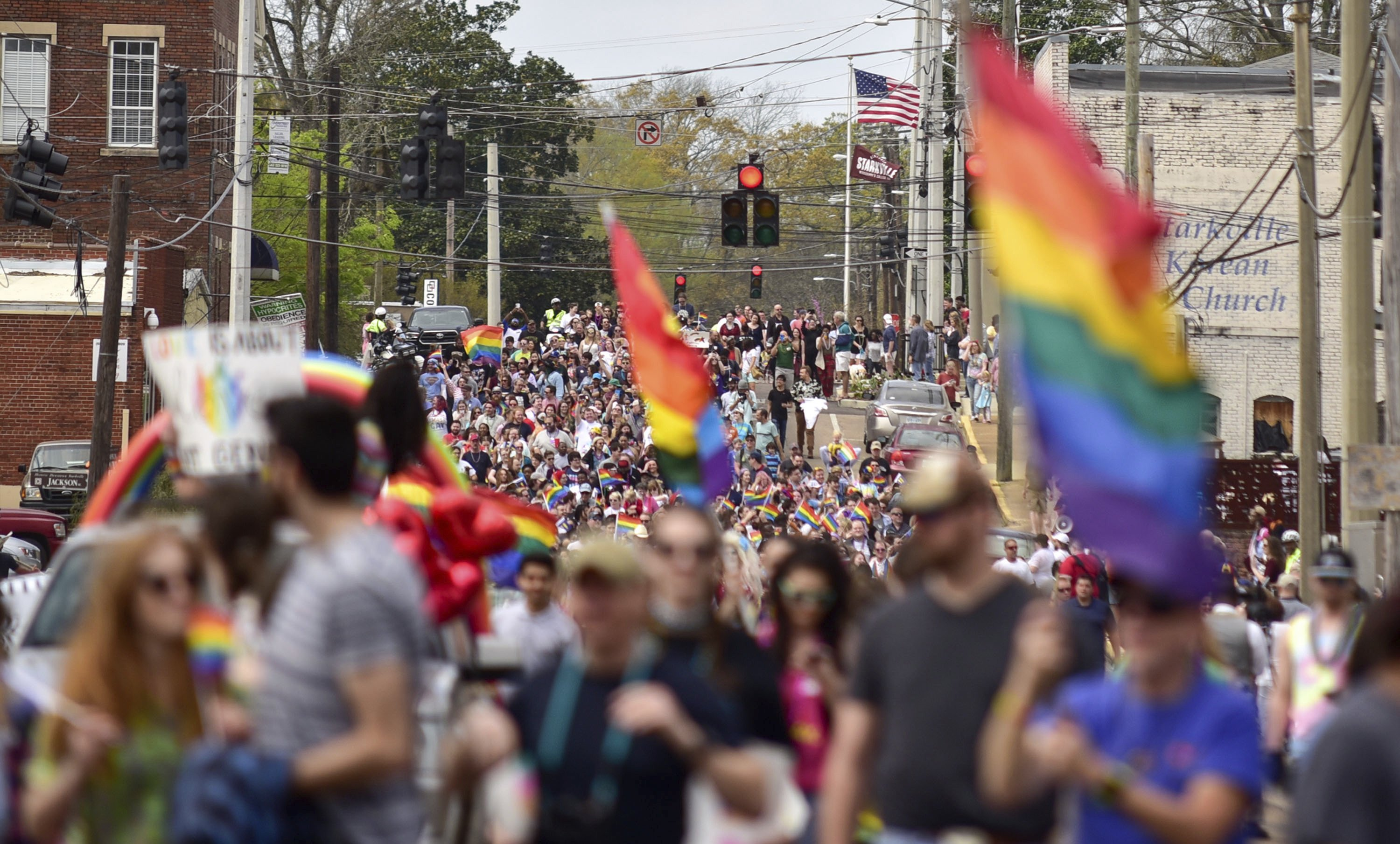 Gay pride parade held in Mississippi city that initially denied permit