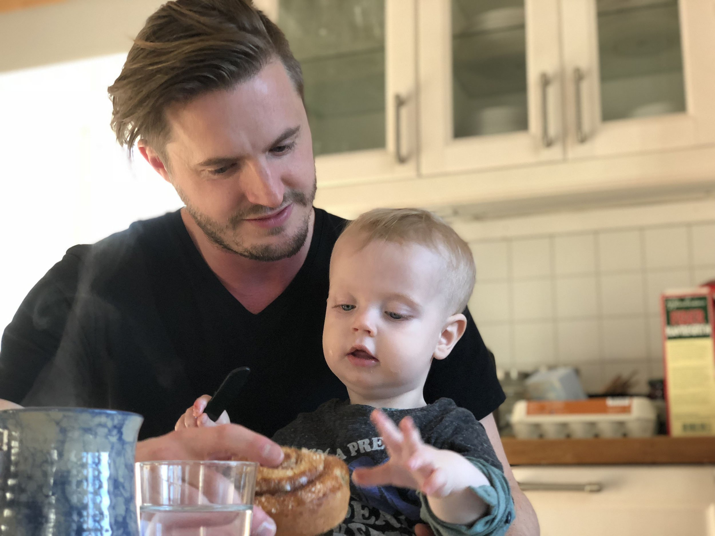 Swedish fathers on child care leave