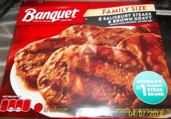 67 tons of Banquet Salisbury steak dinners recalled over bones