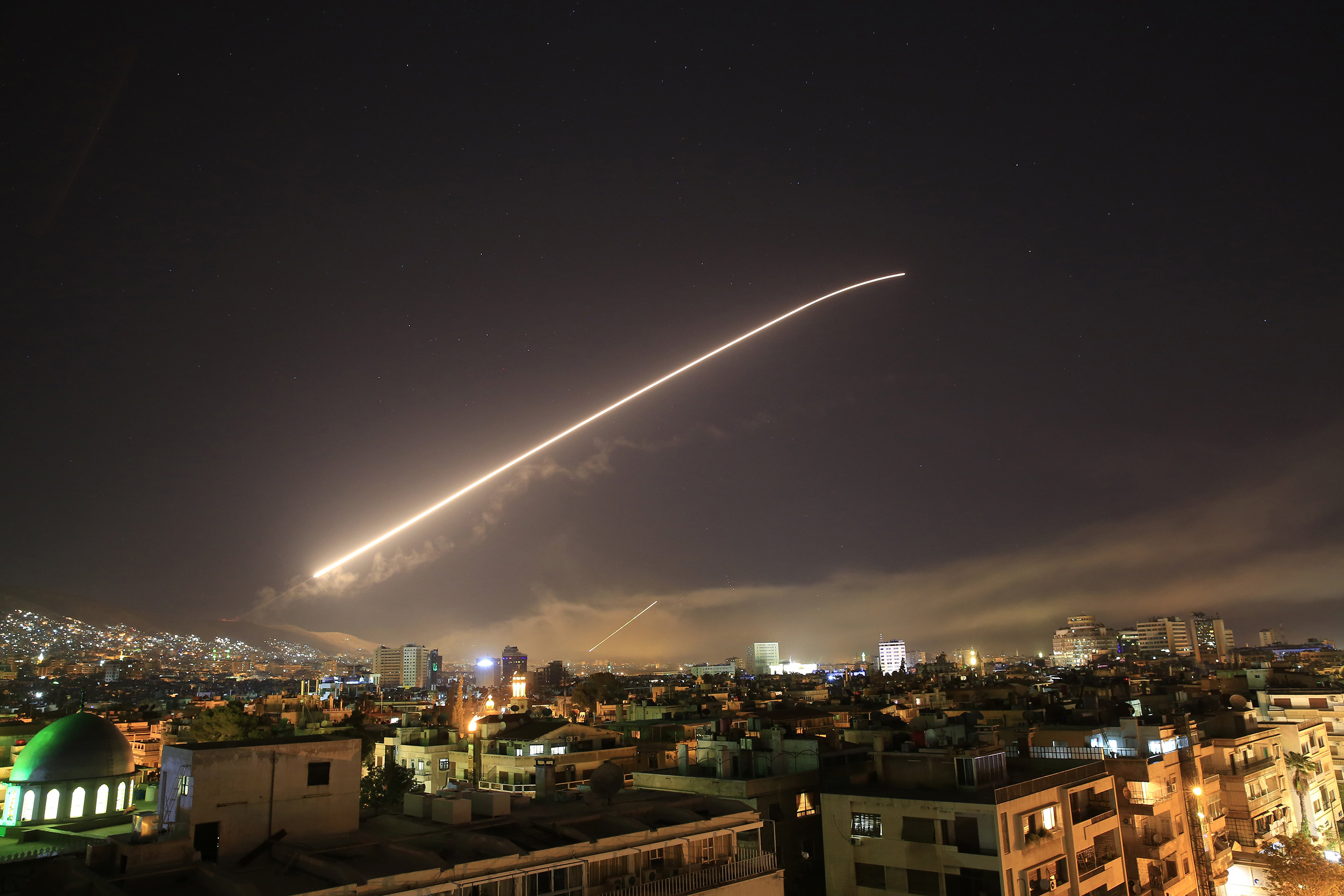 U.S., allies strike Syria in response to suspected chemical weapons attack