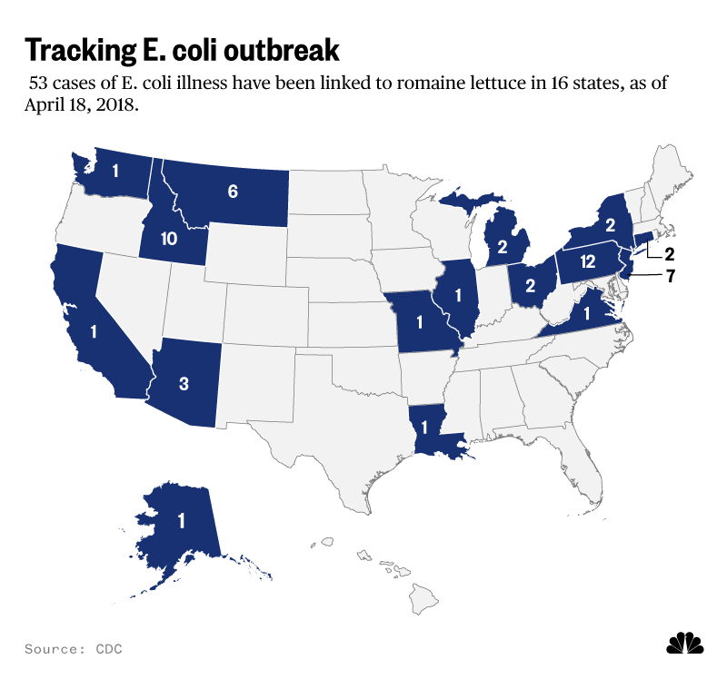 Tracking E. coli outbreak