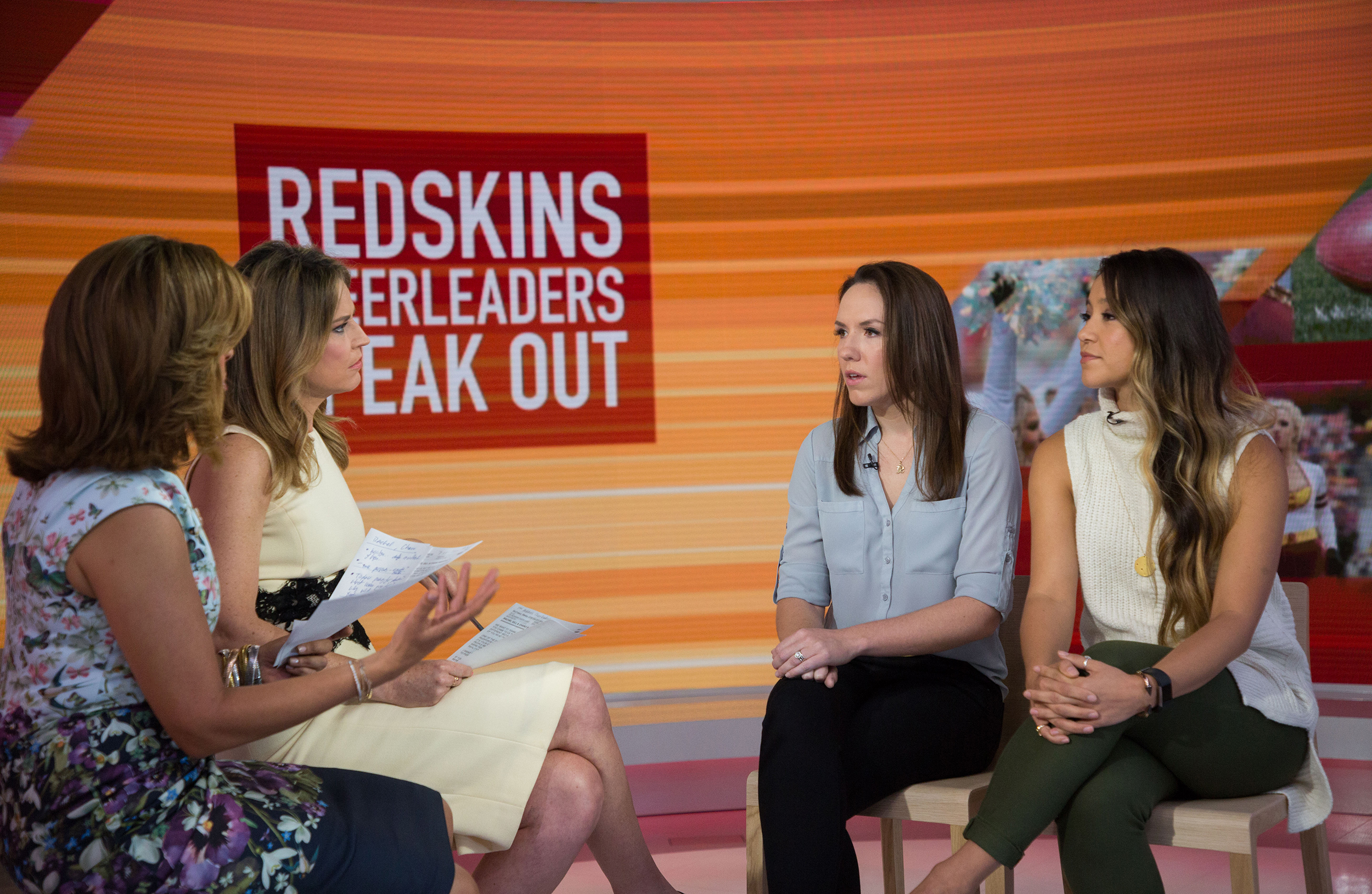 Washington Redskins cheerleaders open up on TODAY about photo shoot