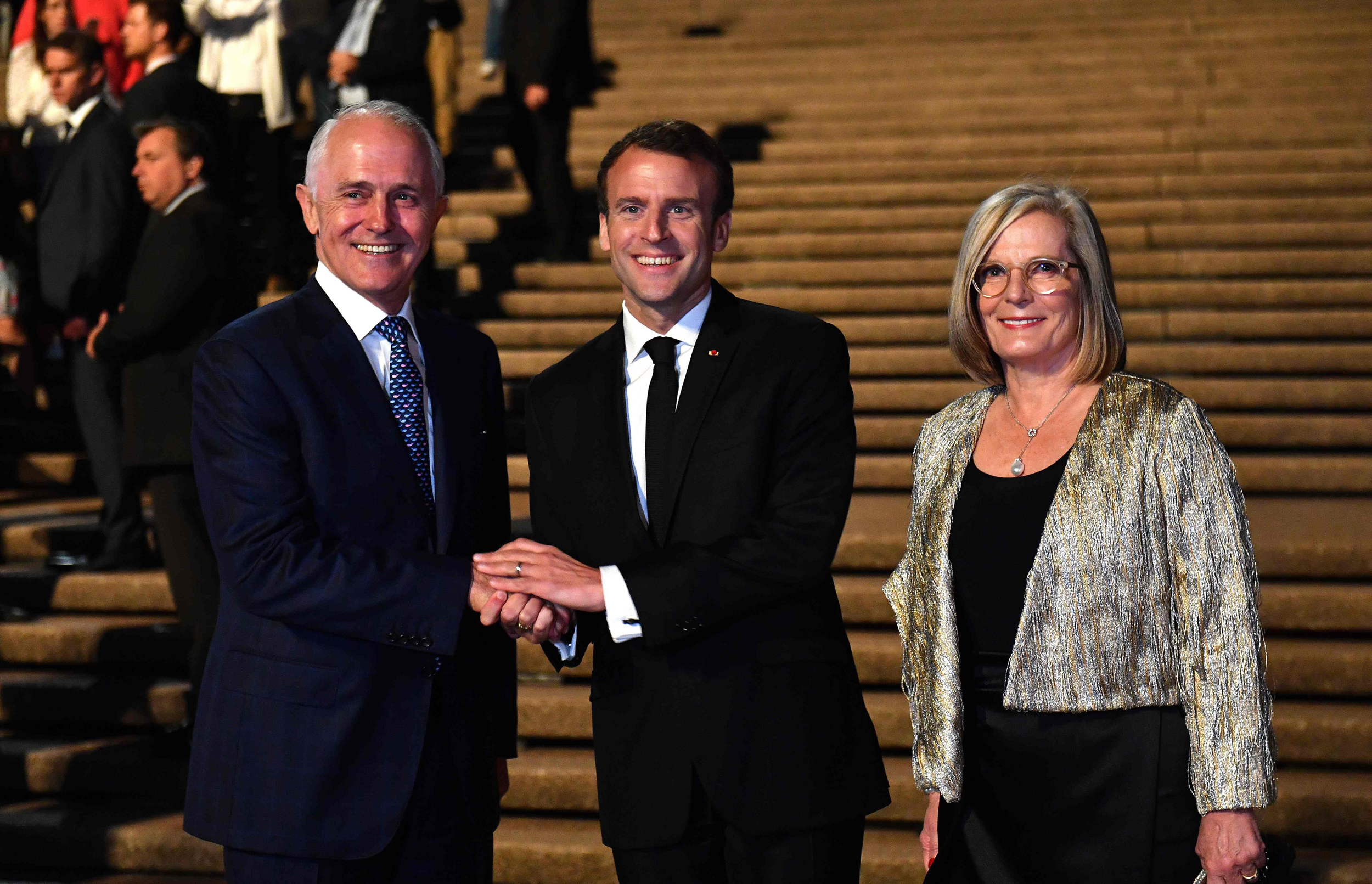 French President Emmanuel Macron Thanks Australian Pm S Delicious Wife