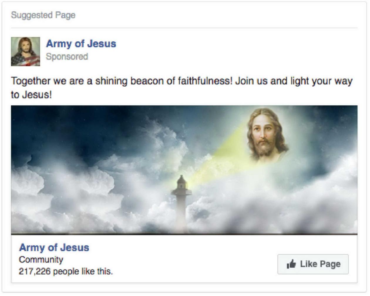 Image: Fake Facebook ads